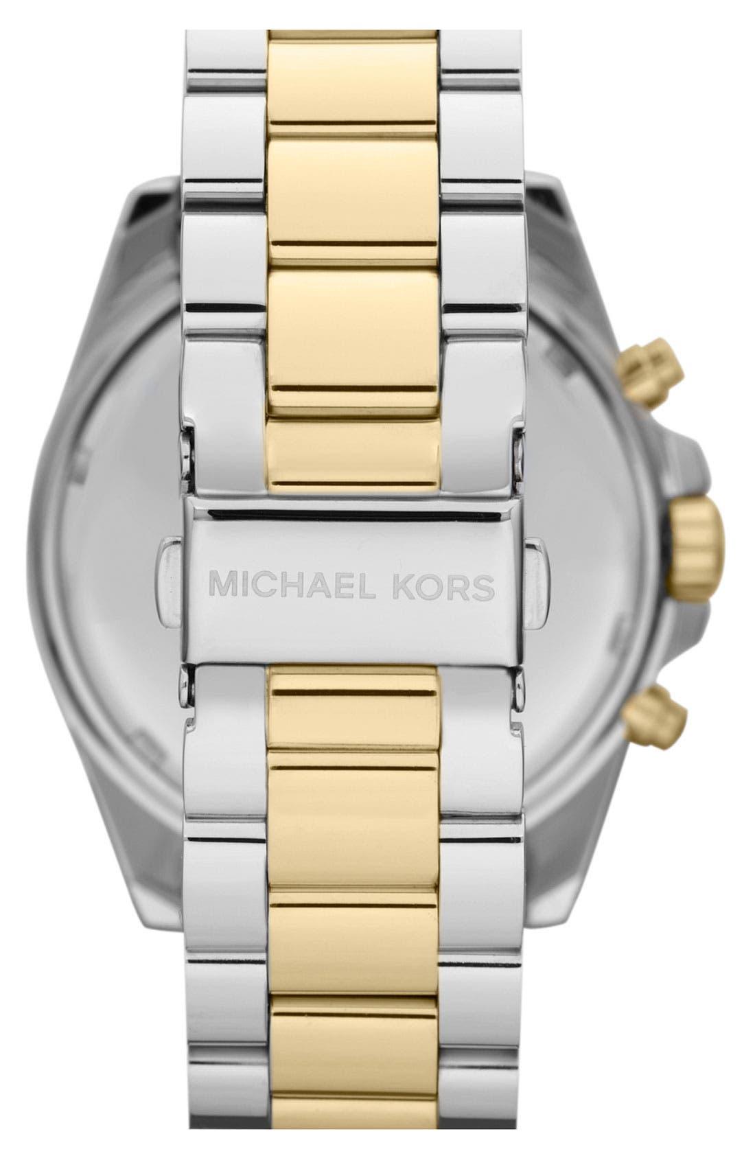 Alternate Image 2  - Michael Kors 'Bradshaw' Chronograph Bracelet Watch, 43mm