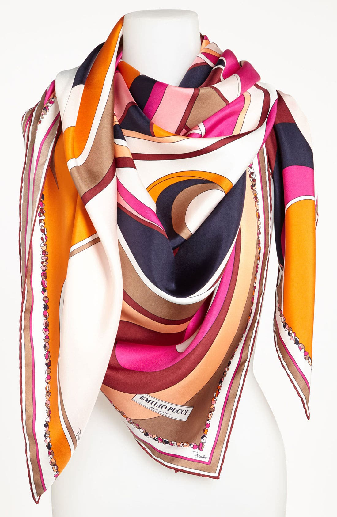 Main Image - Emilio Pucci 'Circle Stripes Timeless' Silk Scarf