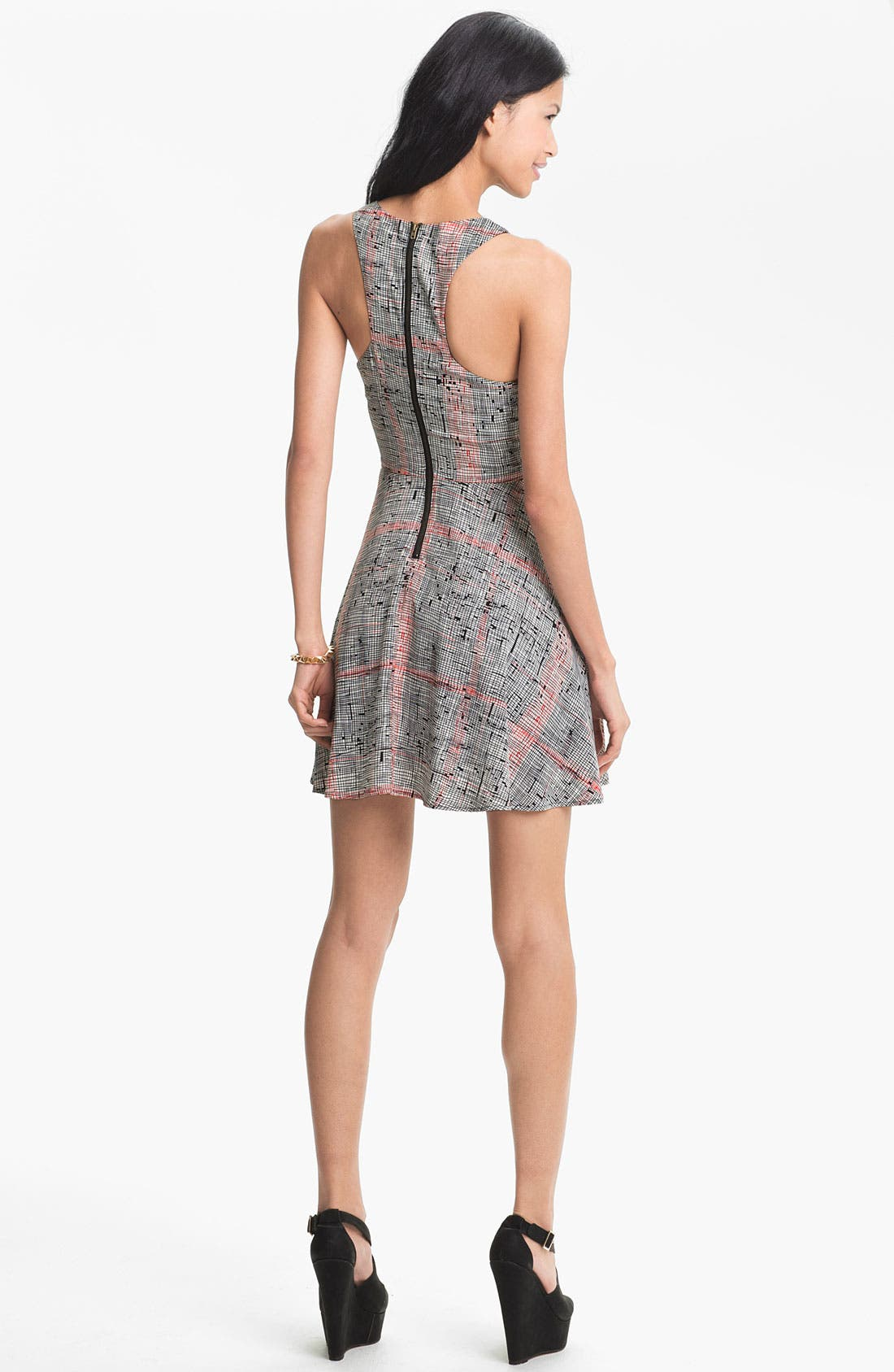 Alternate Image 2  - Lush Tank Cutout Skater Dress (Juniors)