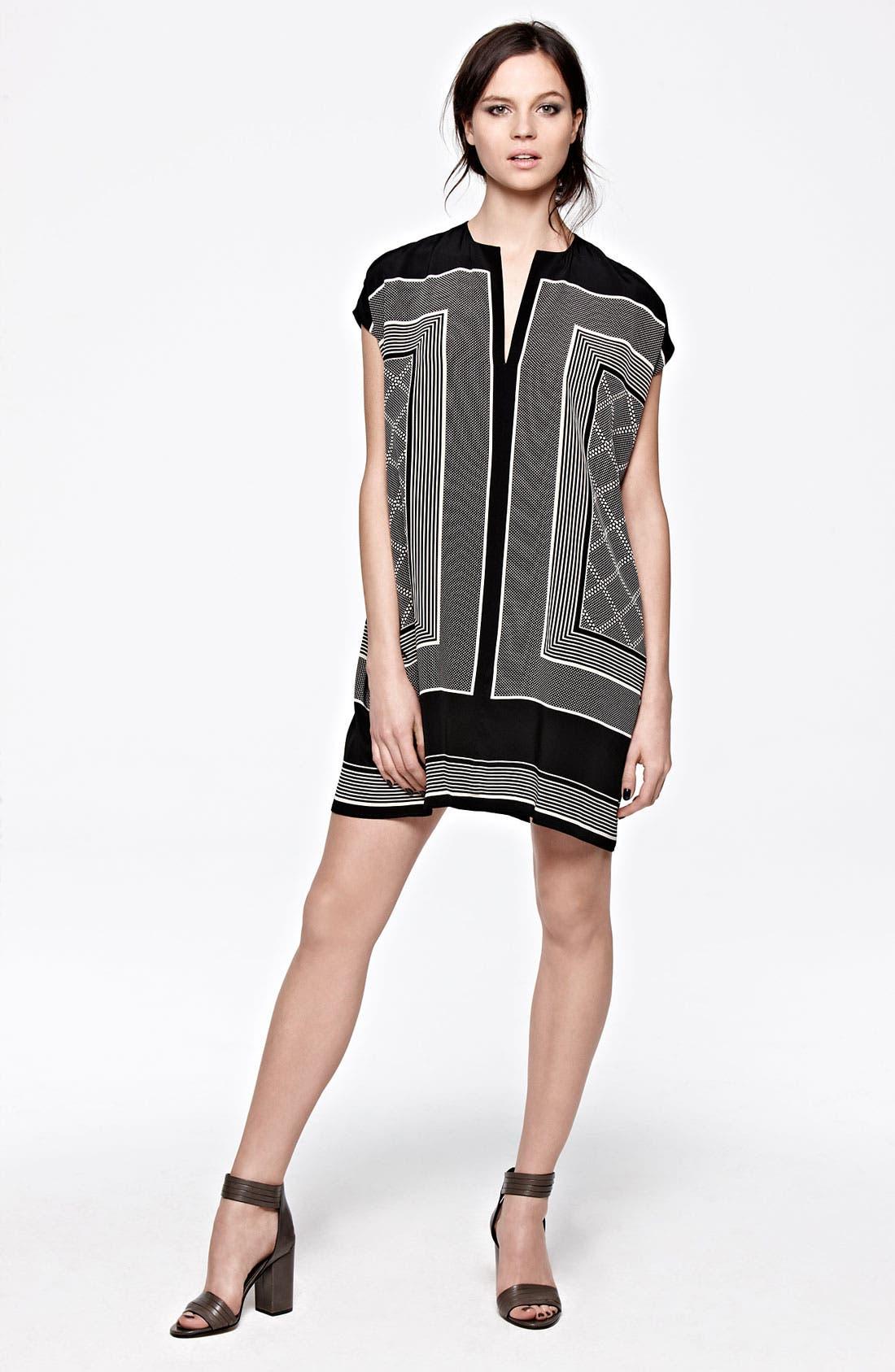 Alternate Image 4  - Vince Scarf Print Shift Dress