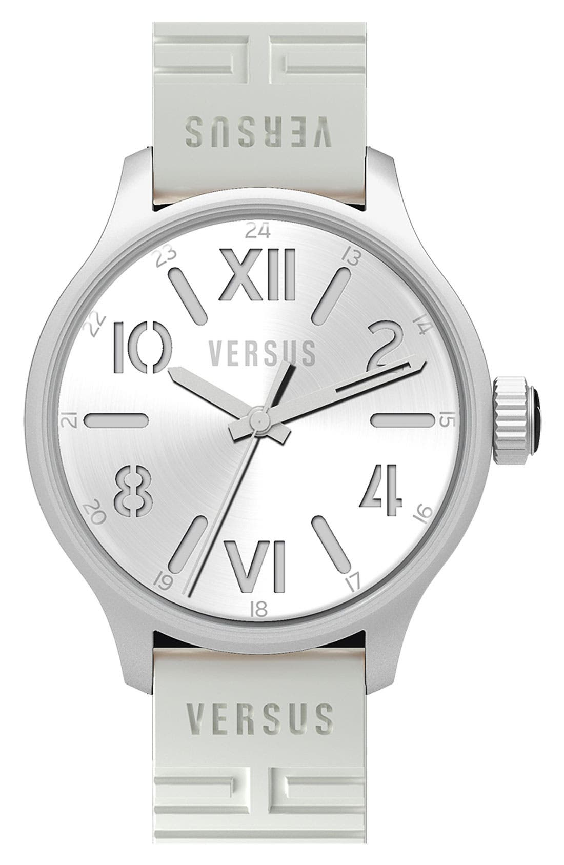 Alternate Image 1 Selected - VERSUS by Versace 'City' Rubber Strap Watch, 44mm