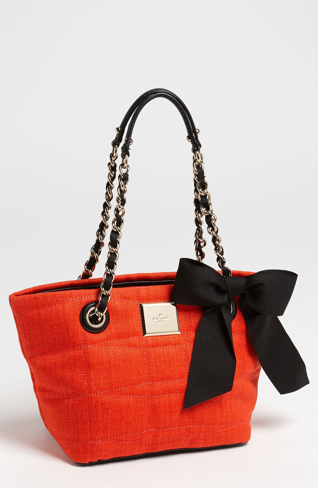Main Image - kate spade new york 'signature spade - mini coal' shoulder bag