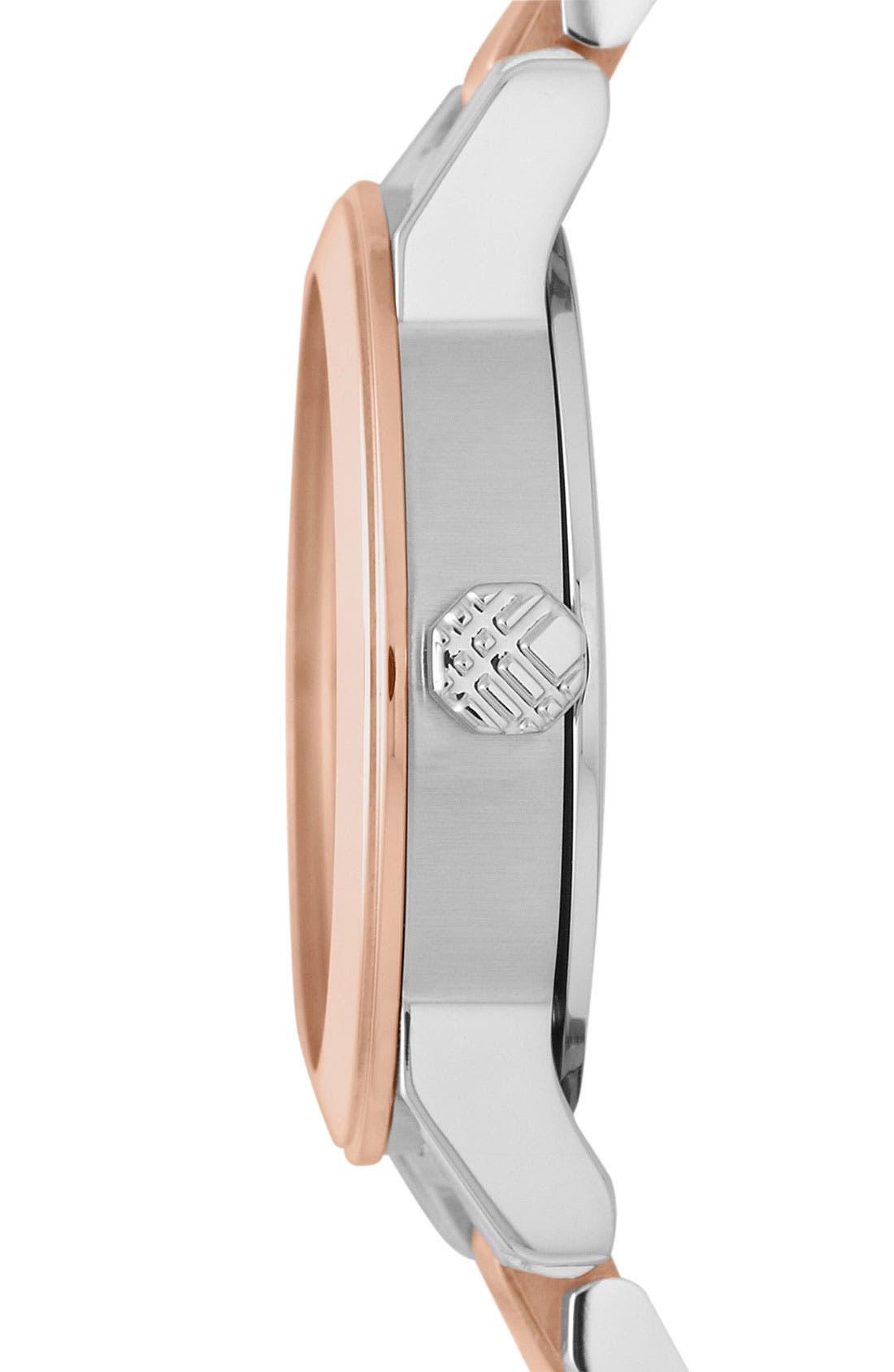 Alternate Image 2  - Burberry Small Diamond Dial Bracelet Watch, 26mm