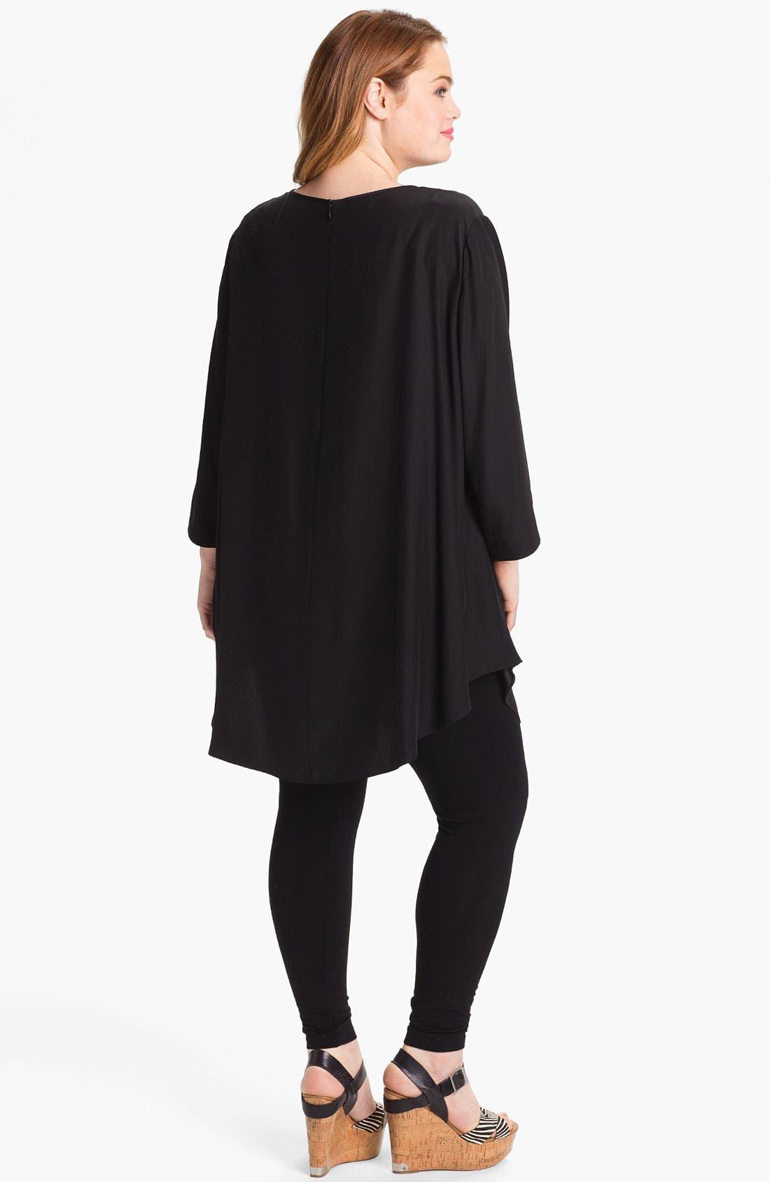Alternate Image 2  - Lafayette 148 New York 'Barrymore' Silk Tunic (Plus)