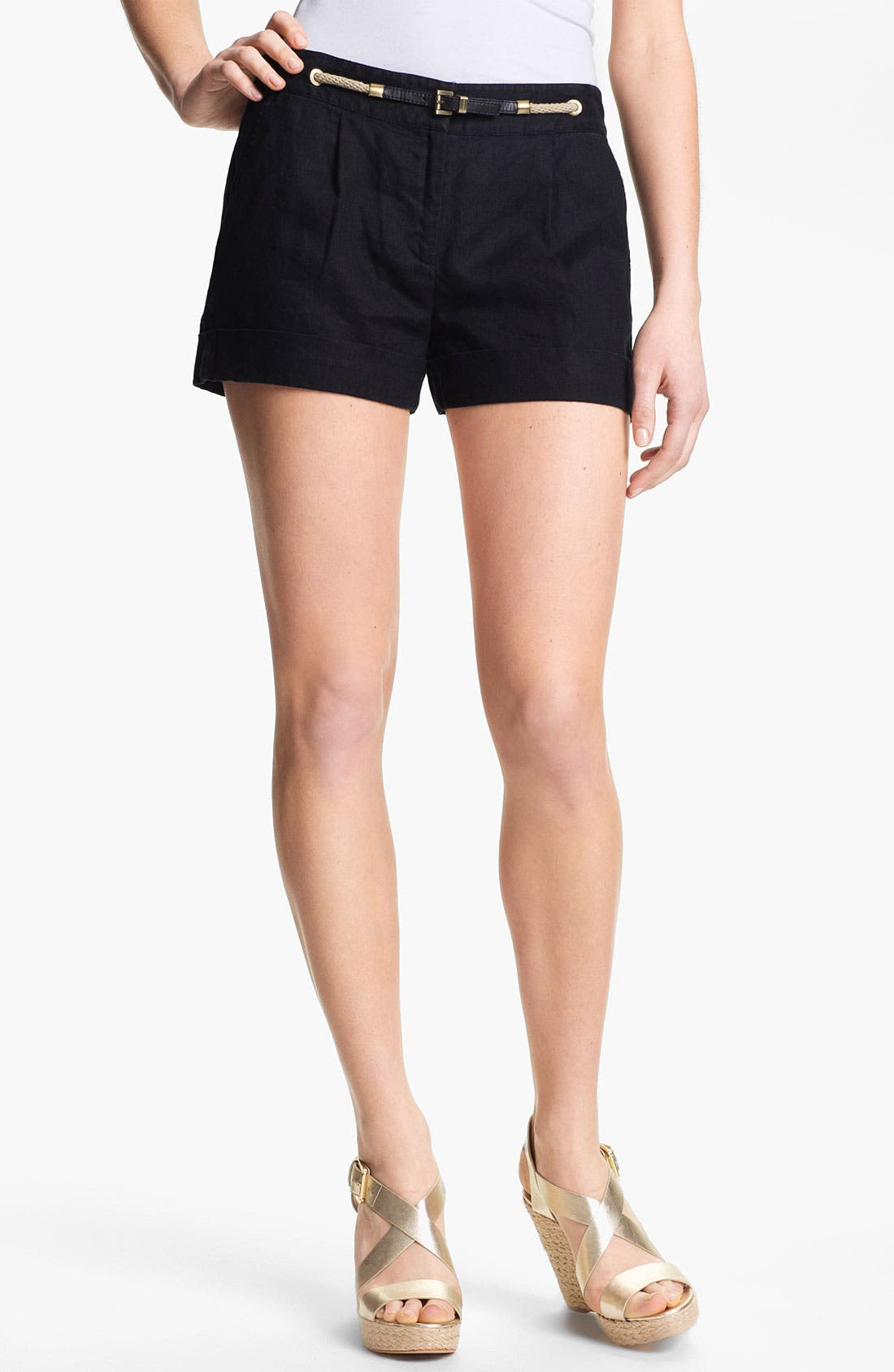 Alternate Image 1 Selected - MICHAEL Michael Kors Cuff Twill Shorts