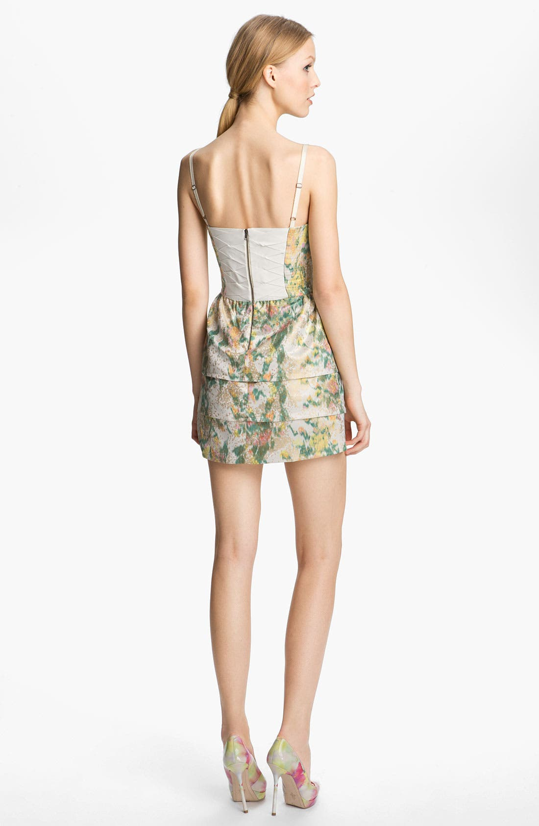 Alternate Image 2  - Alice + Olivia Print Bustier Dress