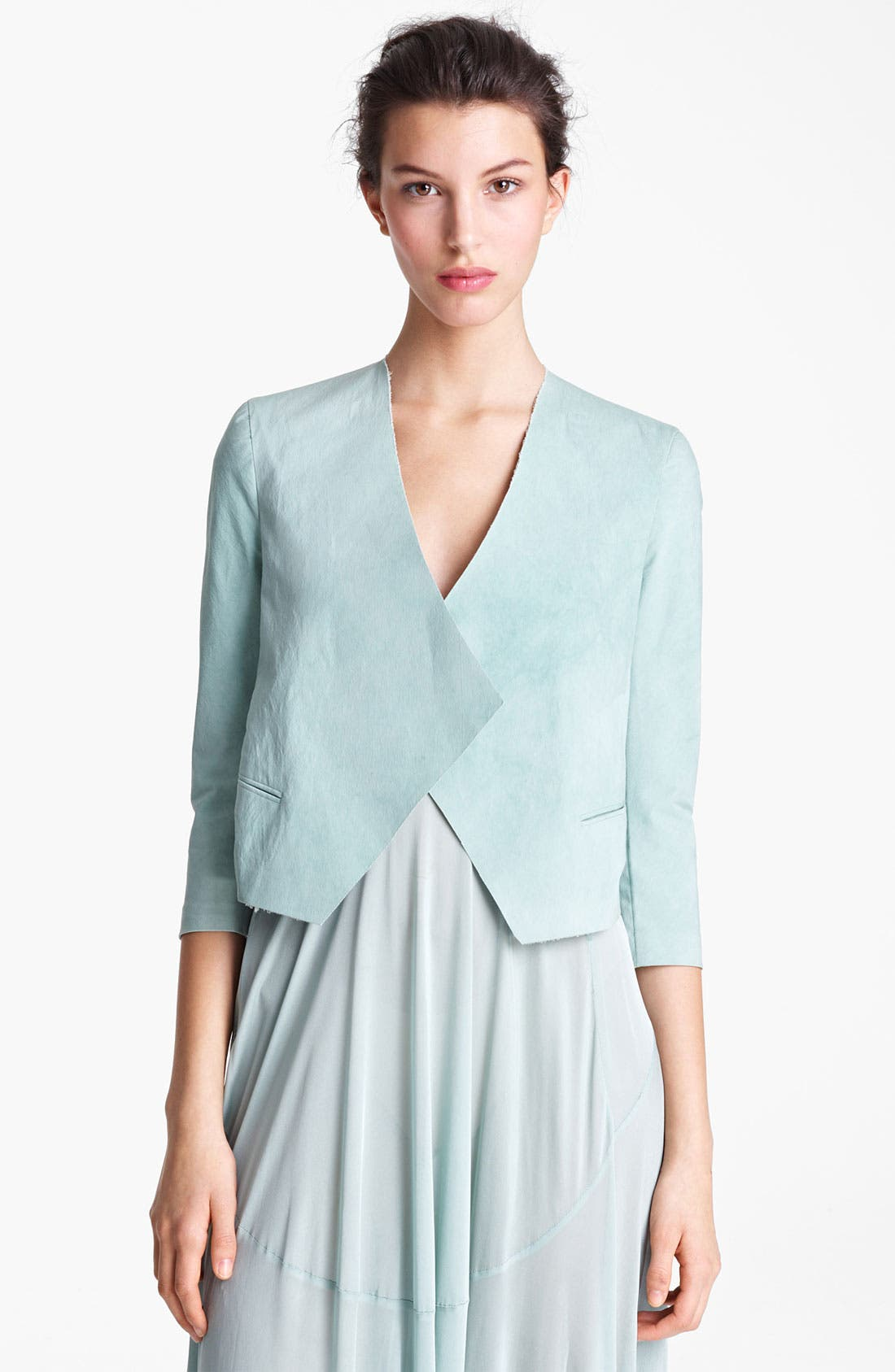 Alternate Image 2  - Donna Karan Collection Mineral Stretch Paper Jacket