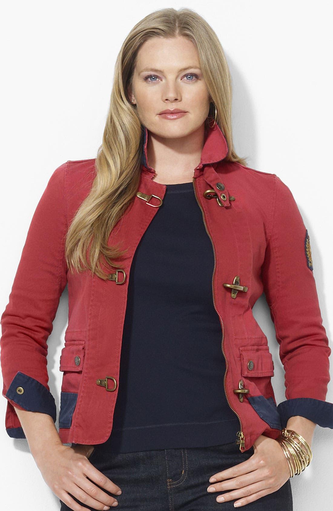 Alternate Image 1 Selected - Lauren Ralph Lauren Denim Jacket (Plus)
