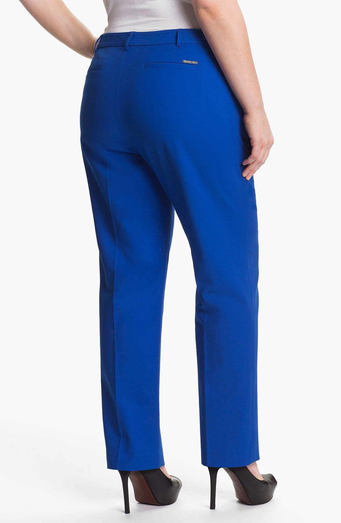 Alternate Image 2  - MICHAEL Michael Kors Straight Leg Pants (Plus)