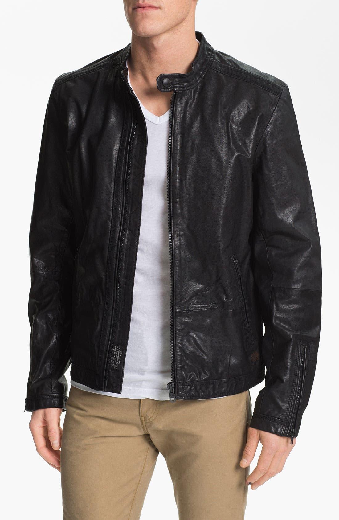 Alternate Image 1 Selected - DIESEL® 'Lagnum' Leather Racing Jacket