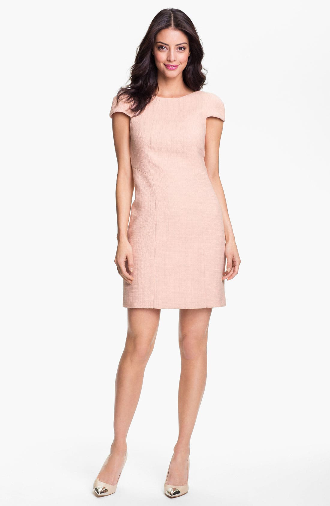 Alternate Image 1 Selected - 4.collective Basket Weave Cotton Sheath Dress