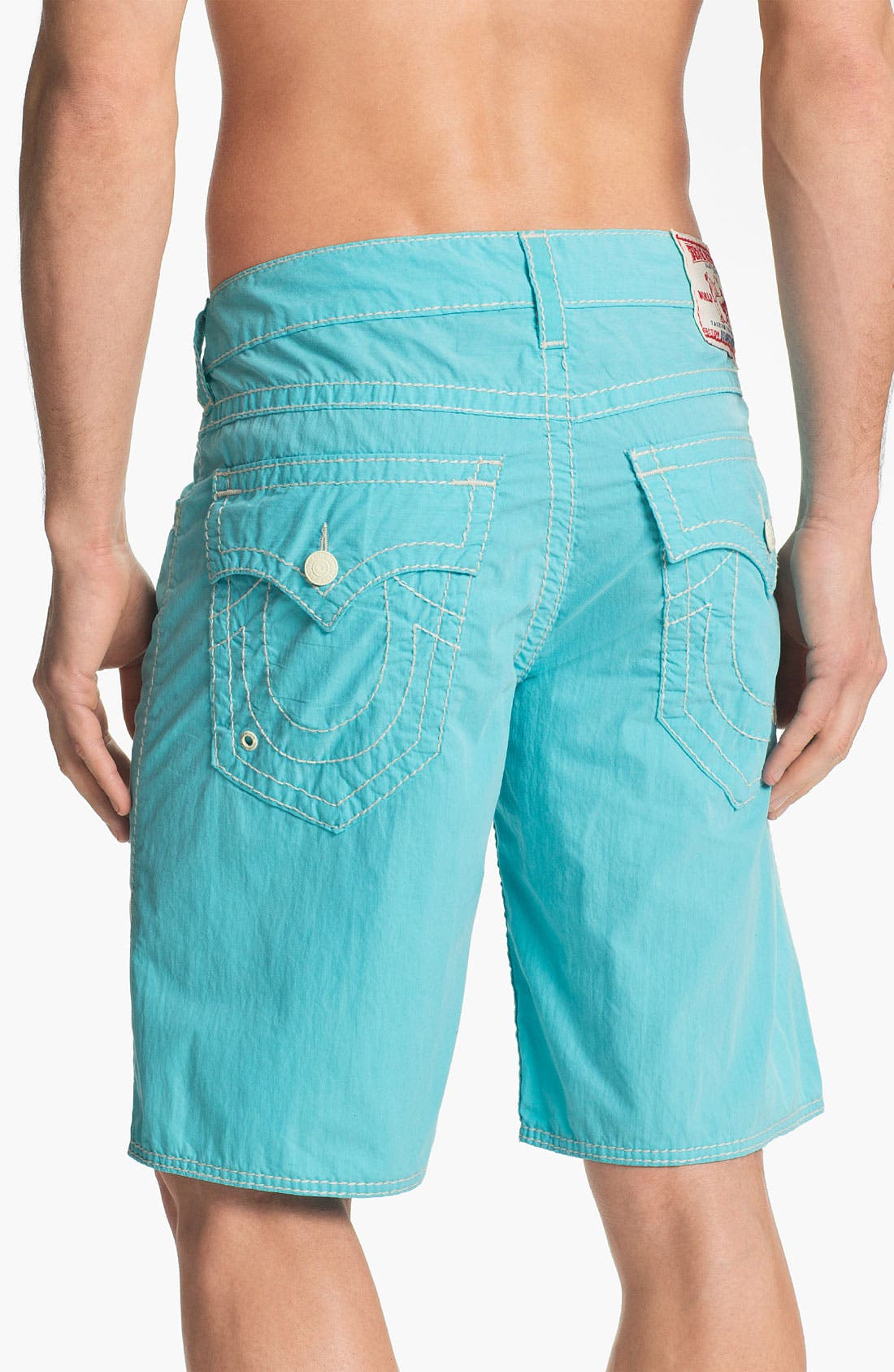 Alternate Image 1 Selected - True Religion Brand Jeans 'Big T' Board Shorts
