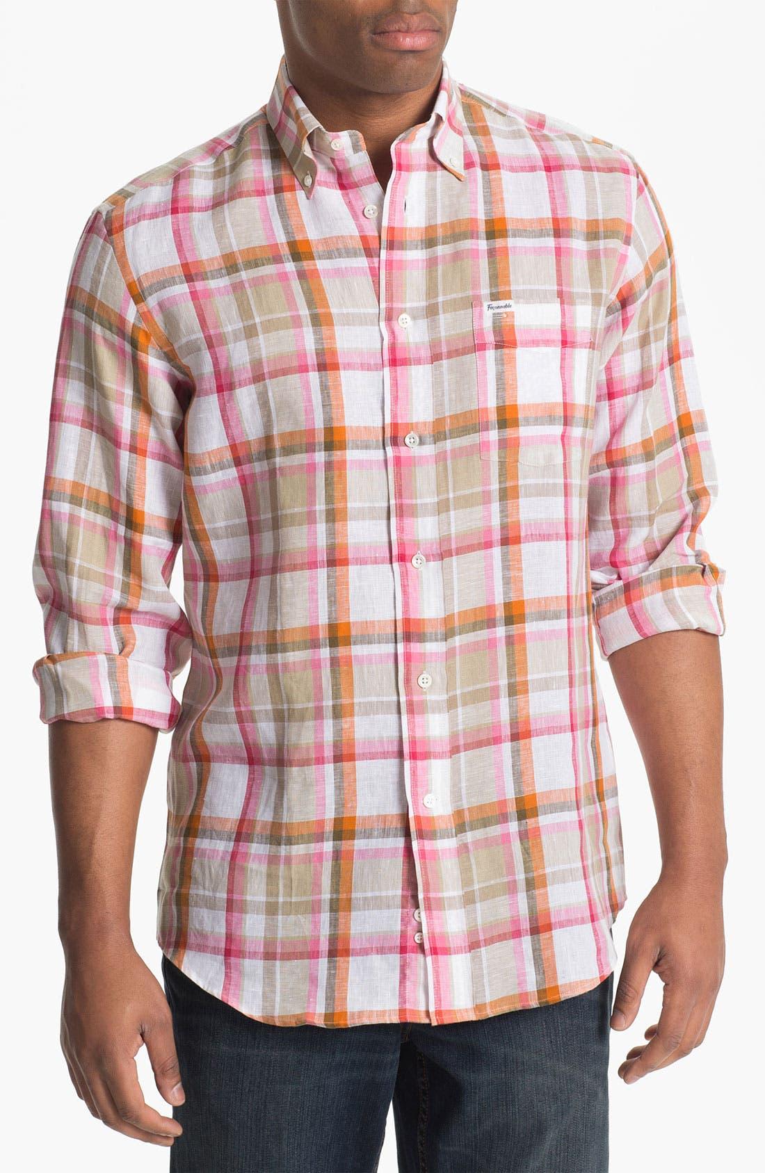 Alternate Image 1 Selected - Façonnable Classique Fit Linen Sport Shirt