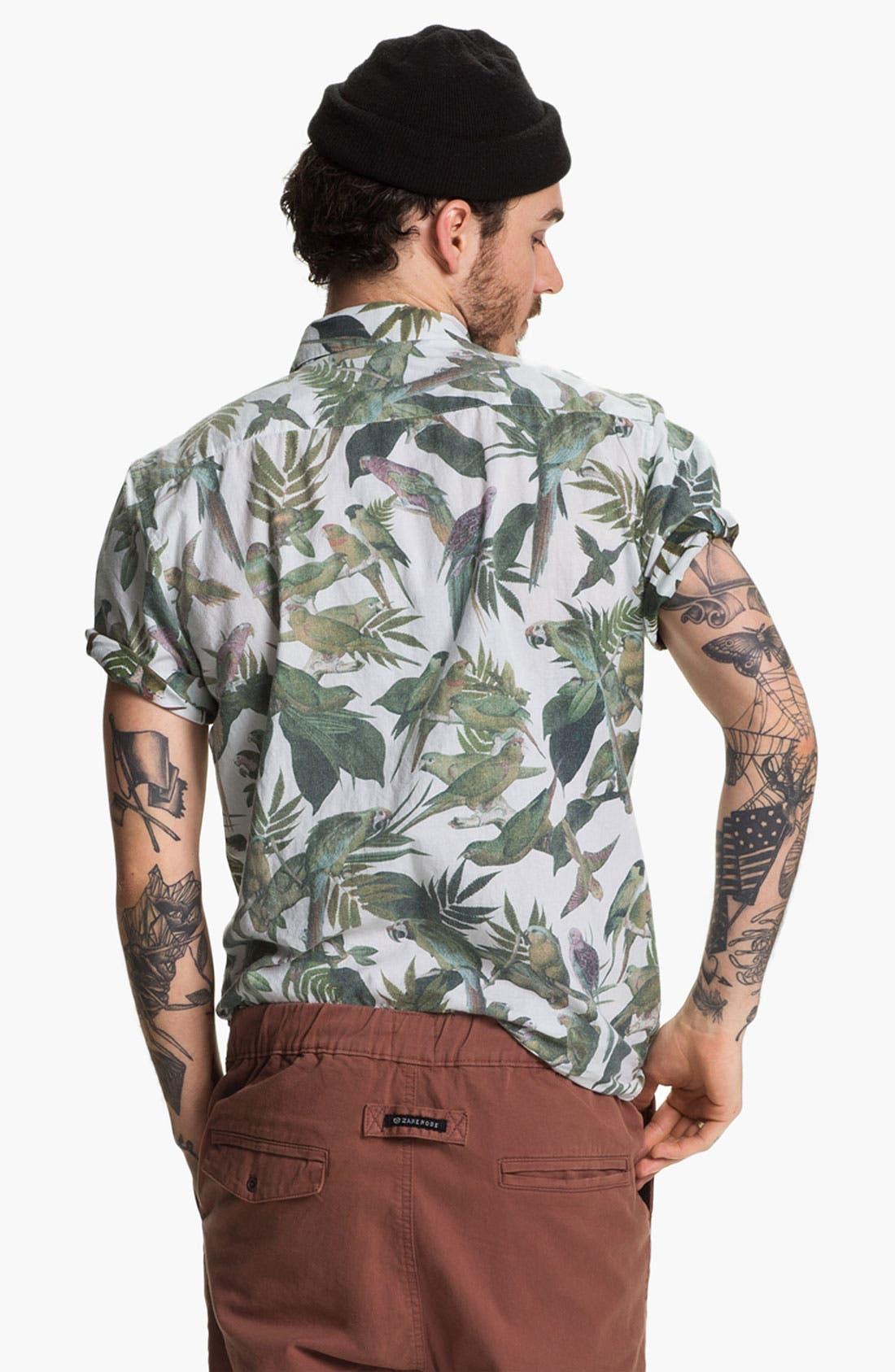 Alternate Image 2  - RVCA 'Squawker' Print Woven Shirt