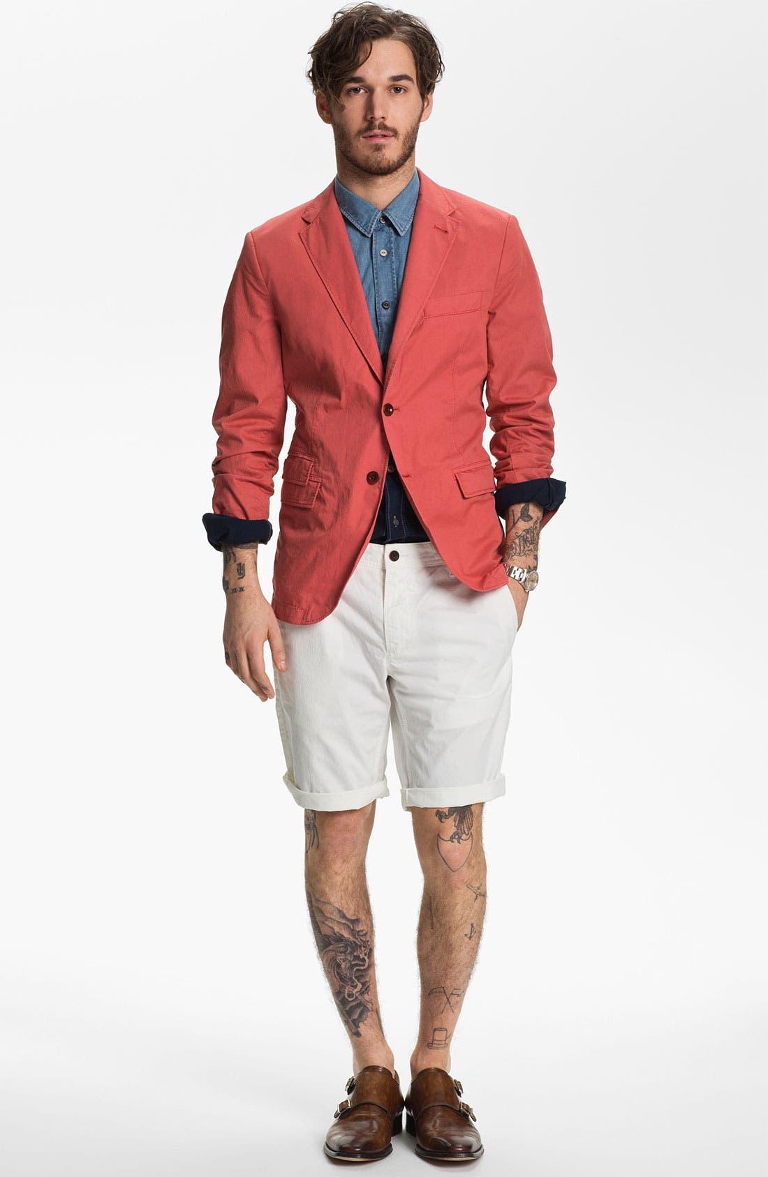 Alternate Image 4  - BOSS Orange 'Eddaie' Dip Dye Denim Shirt