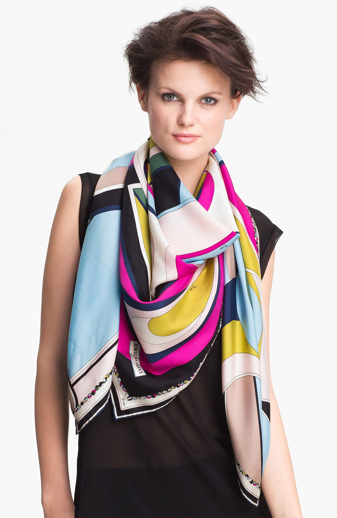 Main Image - Emilio Pucci 'Circle Stripes Timeless' Silk Scarf