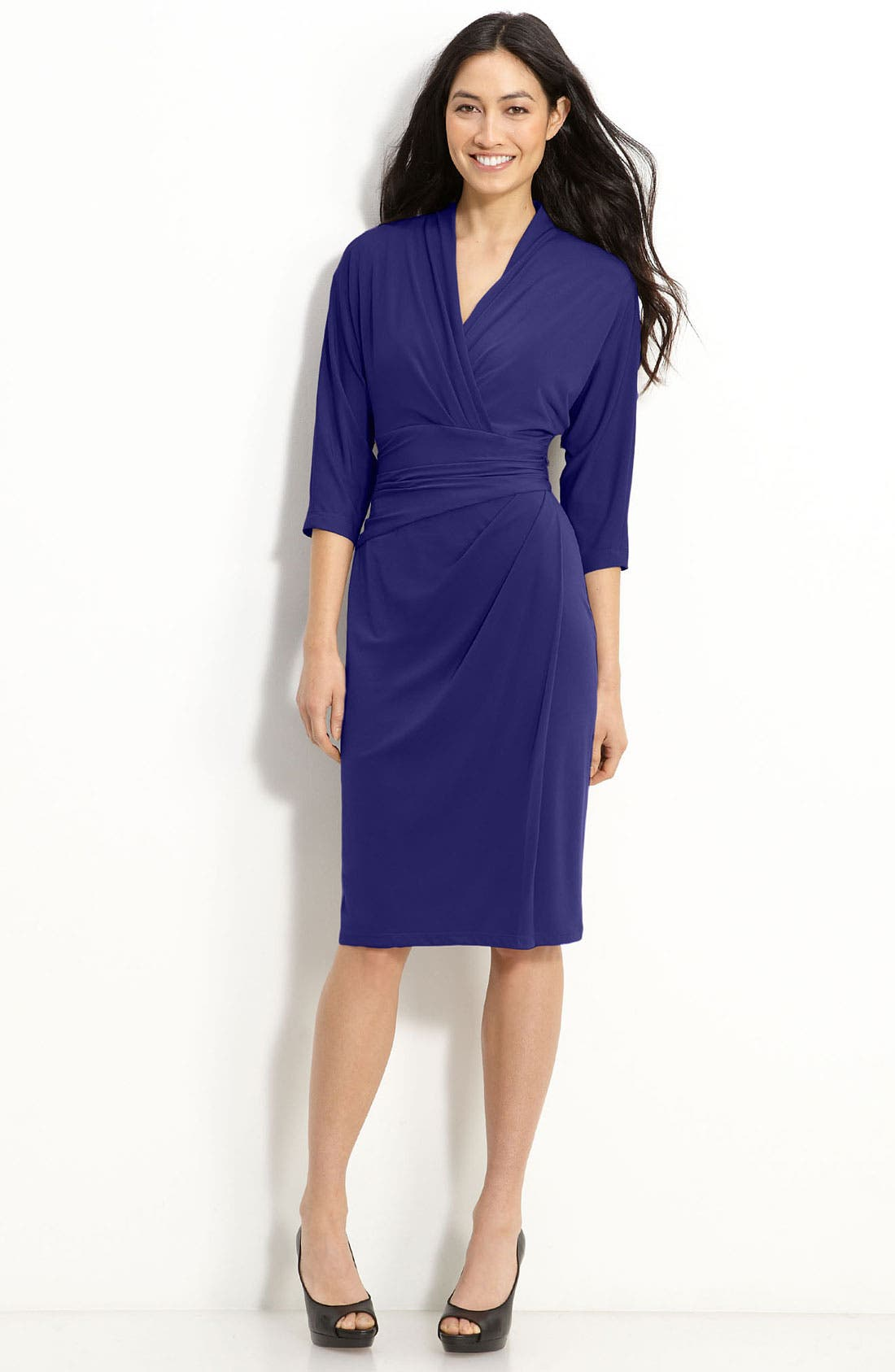 Main Image - Suzi Chin for Maggy Boutique Faux Wrap Jersey Dress
