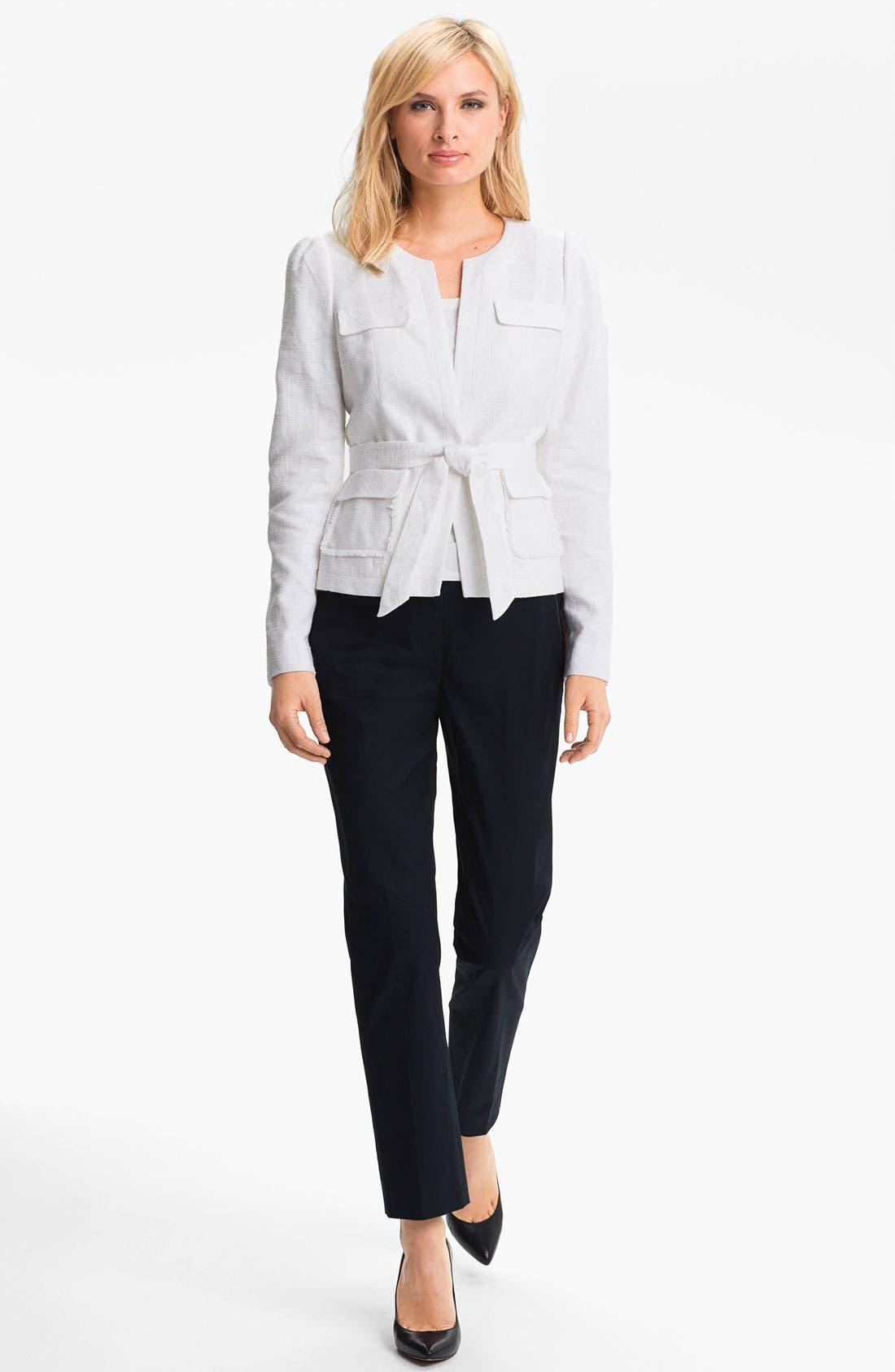 Alternate Image 4  - Classiques Entier Belted Linen Jacket