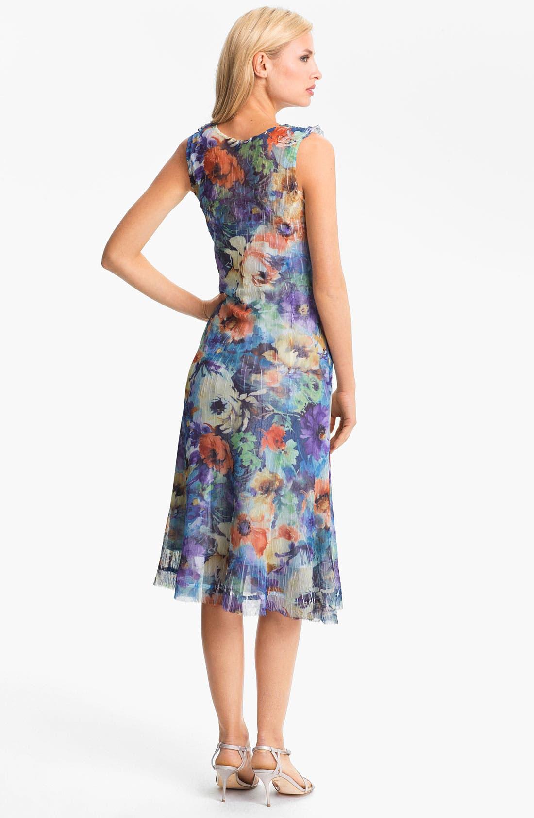 Alternate Image 2  - Komarov Ruffled Print Chiffon Dress