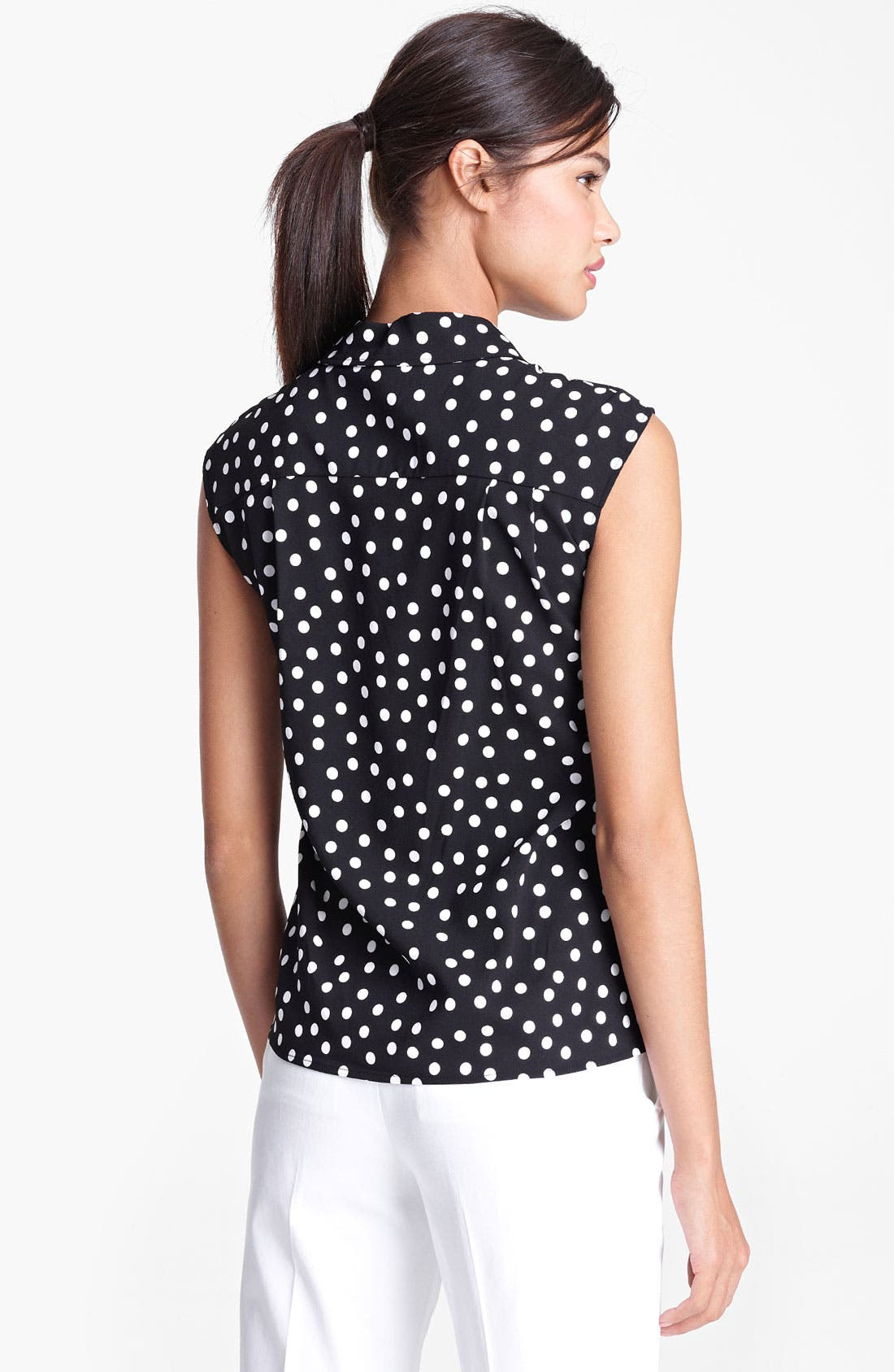Alternate Image 2  - Dolce&Gabbana Polka Dot Stretch Cady Blouse