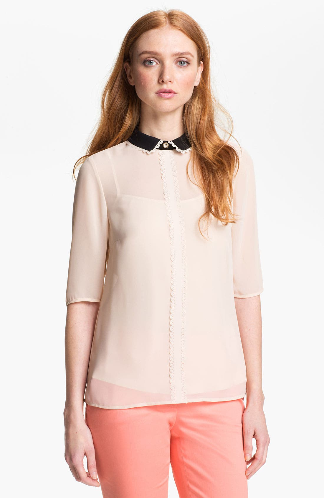 Main Image - Ted Baker London Laser Cut Detail Shirt (Online Only)
