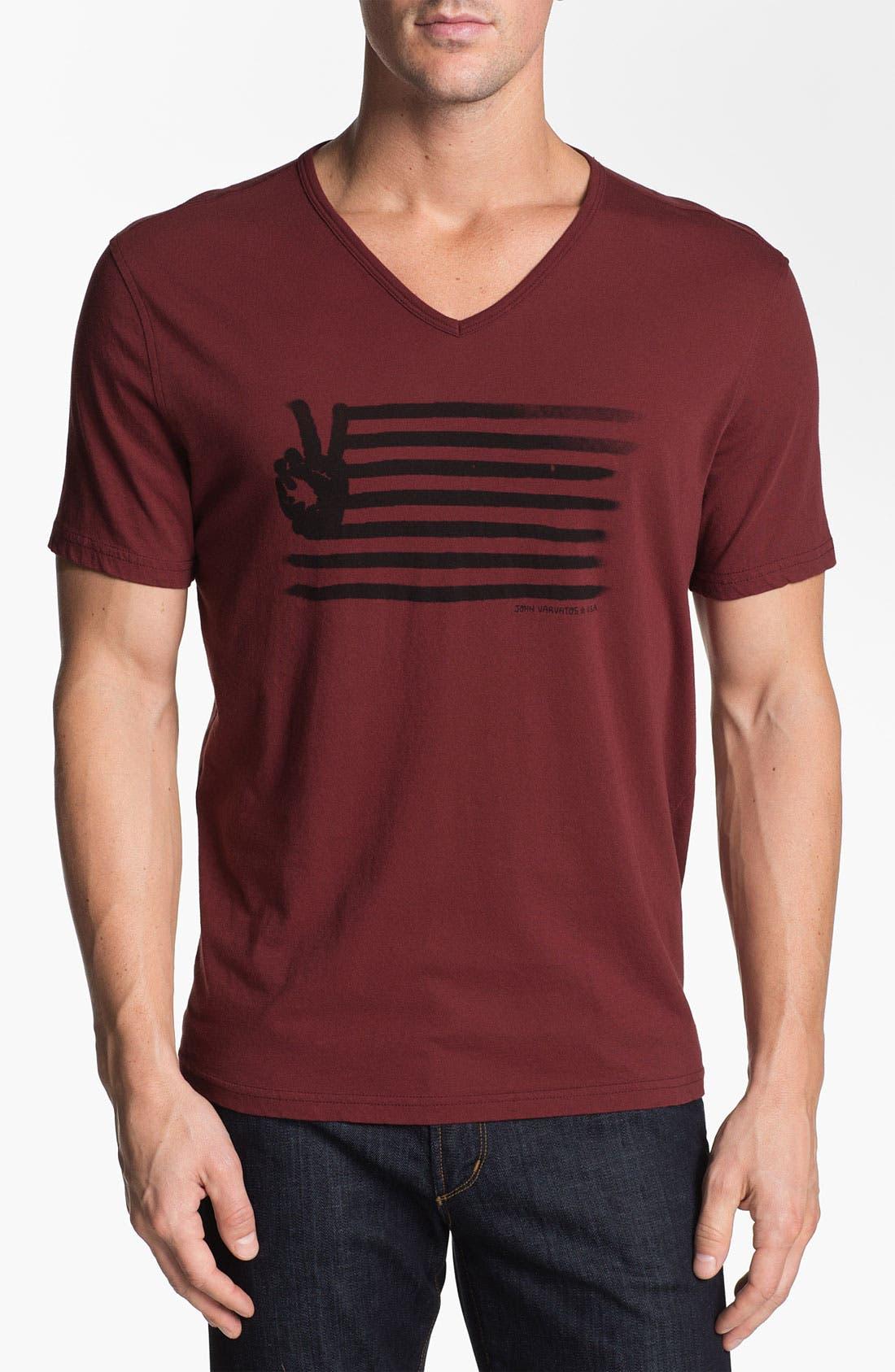 Alternate Image 1 Selected - John Varvatos Star USA 'Painted Peace Sign' Graphic T-Shirt