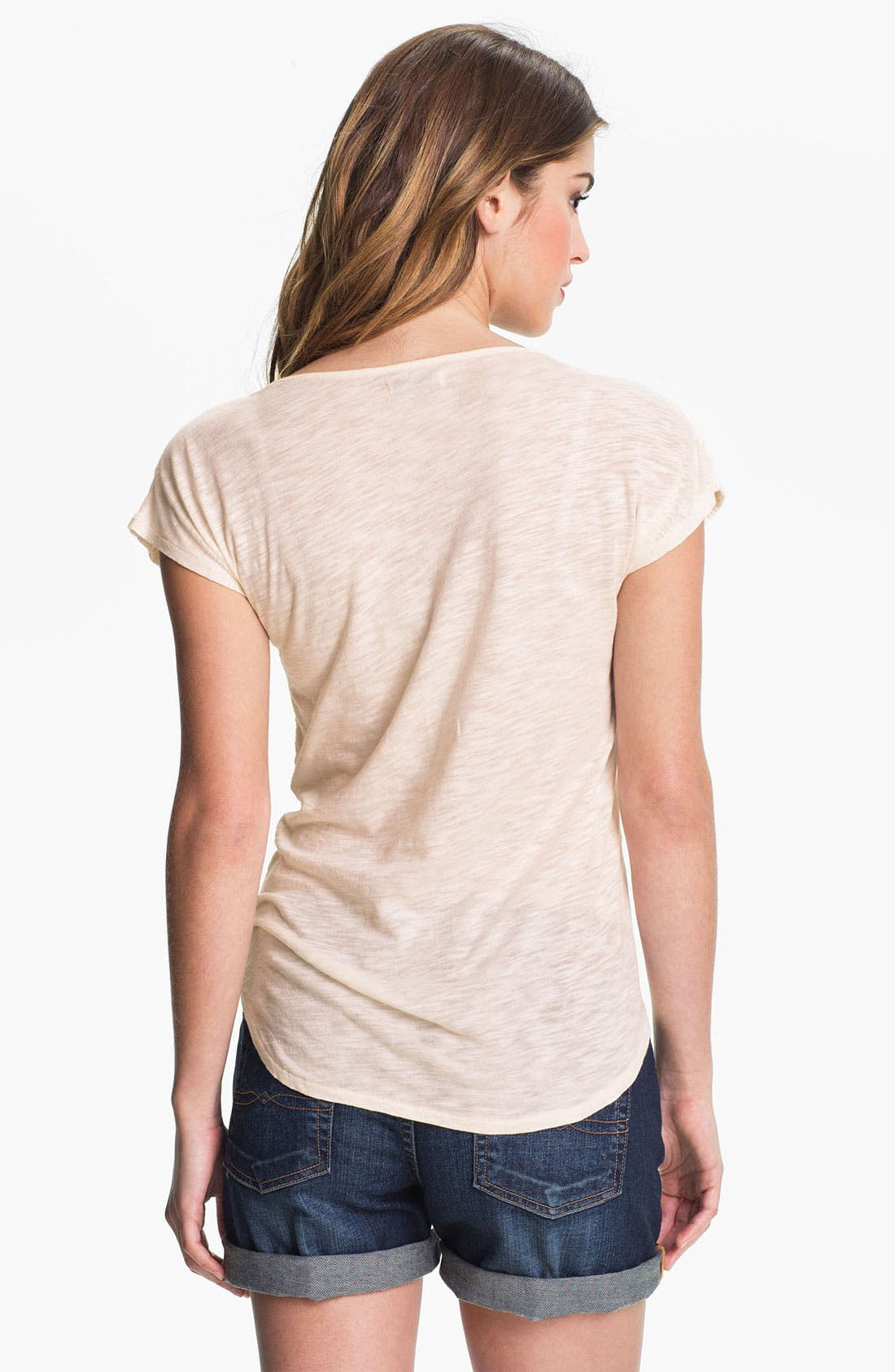 Alternate Image 2  - Lucky Brand Lace Front Tee