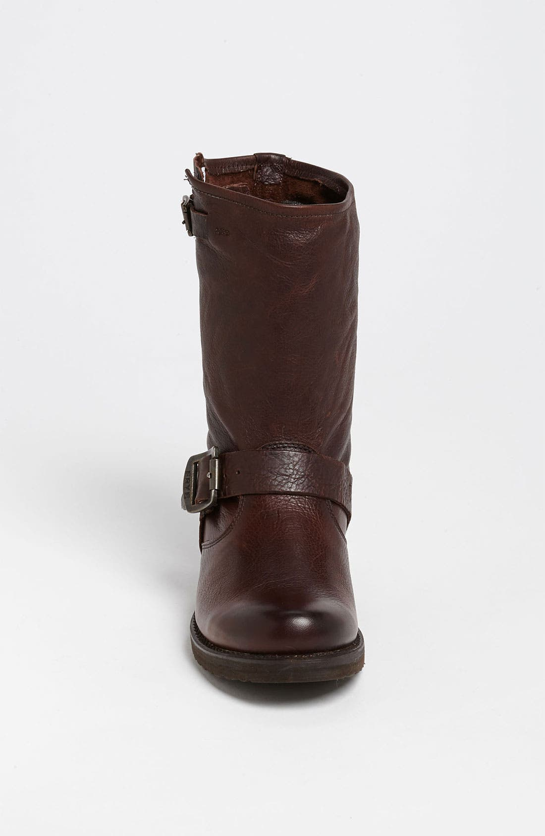 'Veronica Short' Slouchy Boot,                             Alternate thumbnail 6, color,                             Dark Brown Leather