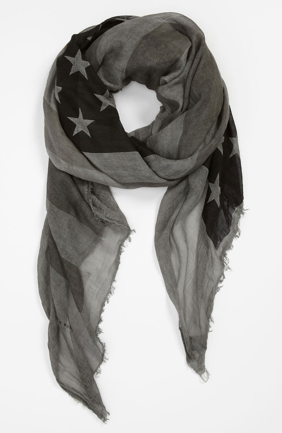 Main Image - John Varvatos Collection Flag Print Scarf
