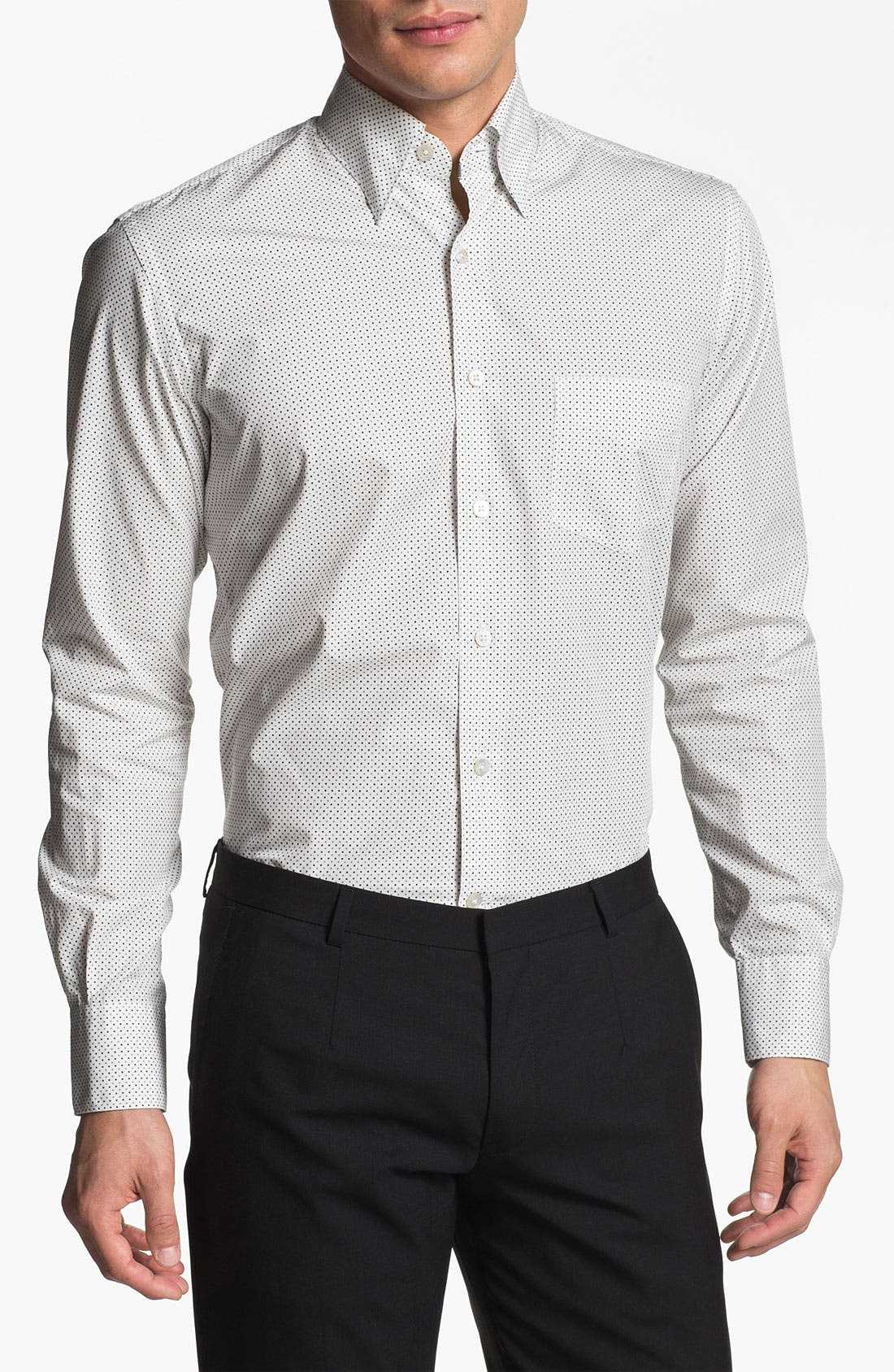 Alternate Image 1 Selected - Canali Regular Fit Sport Shirt