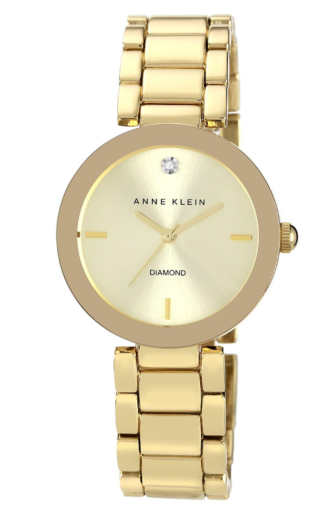 ANNE KLEIN Mirror Bezel Bracelet Watch, 32mm