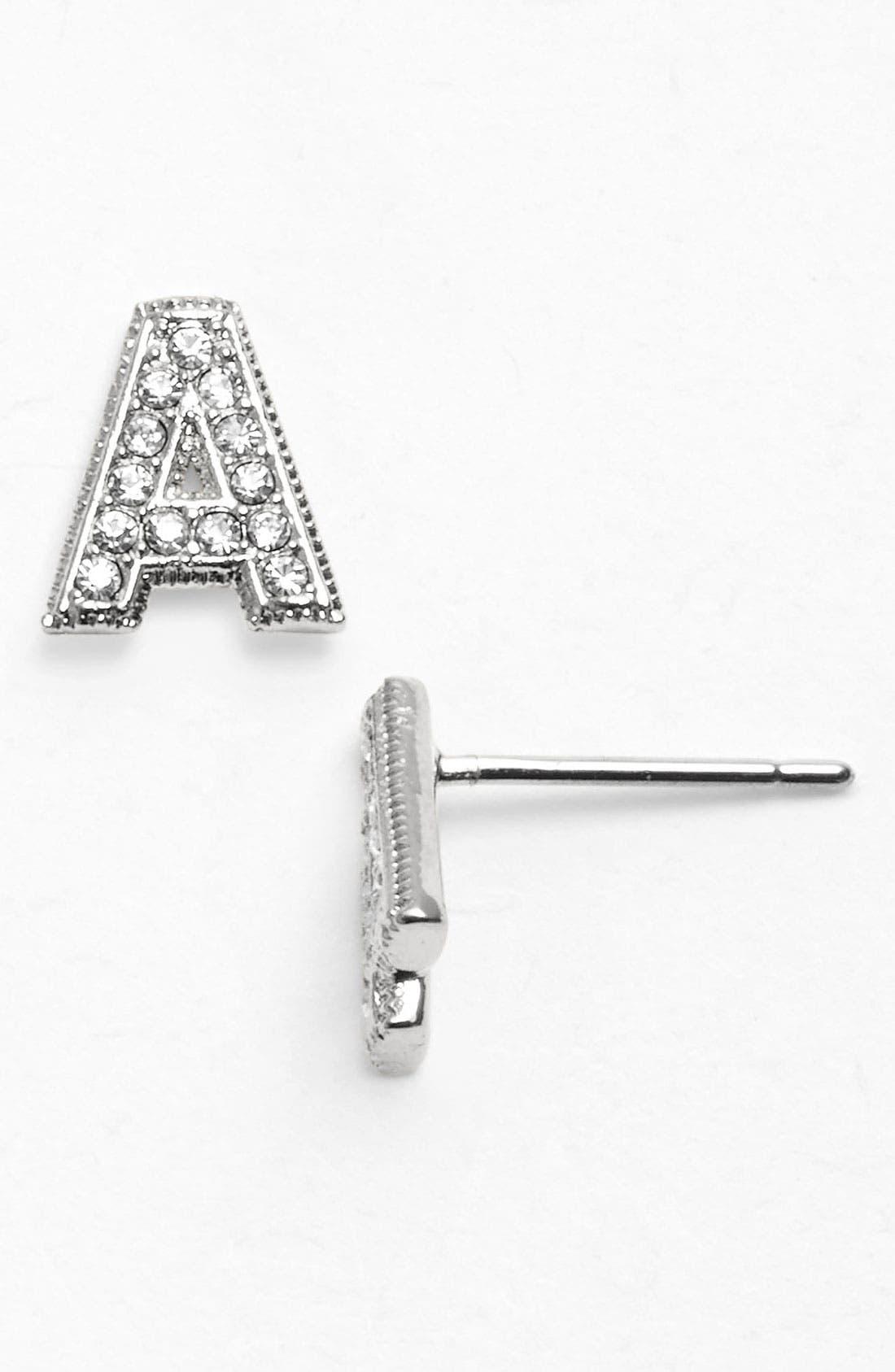 Alternate Image 1 Selected - Nadri 'Novelty' Initial Stud Earrings (Nordstrom Exclusive)