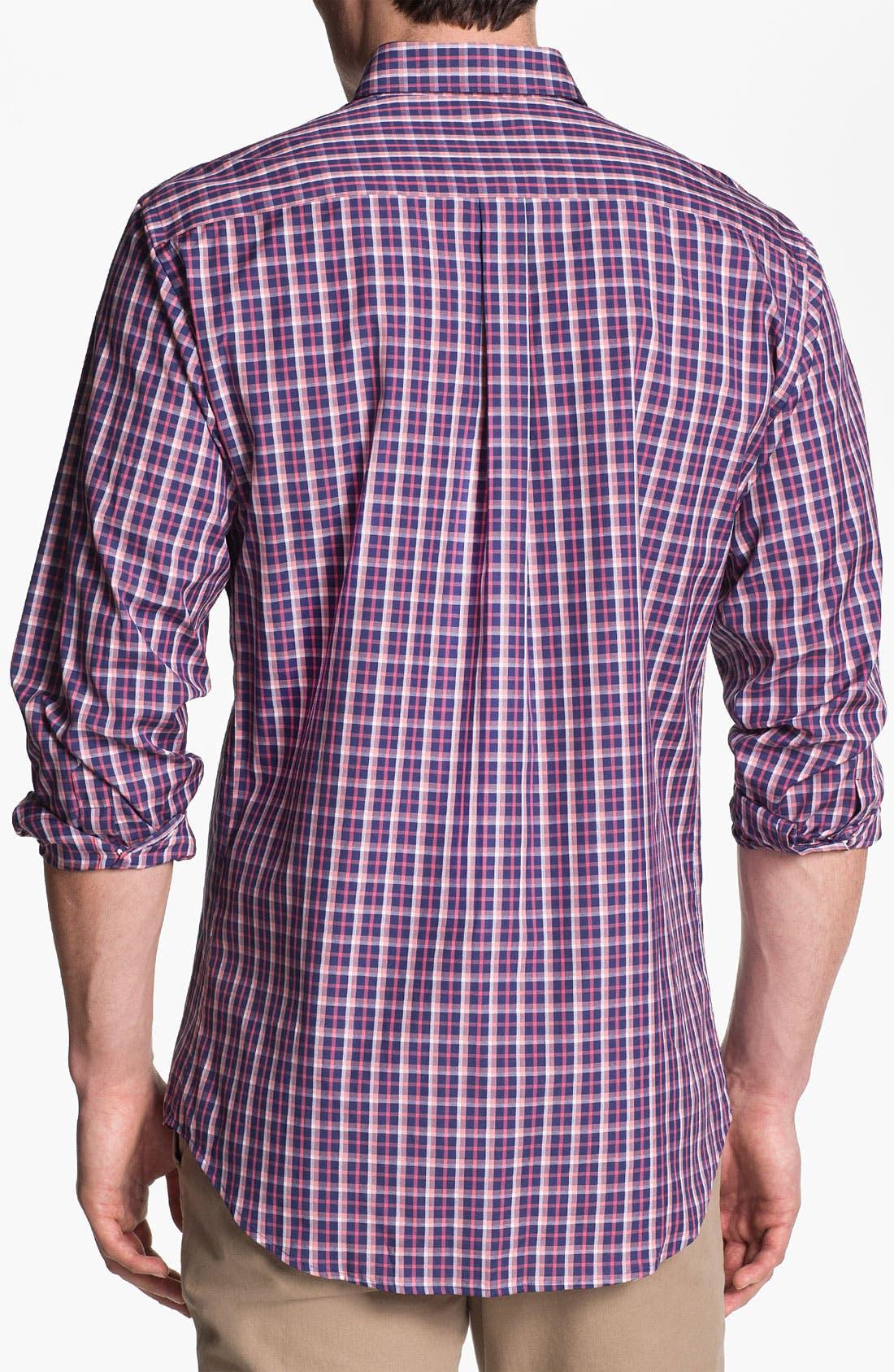 Alternate Image 2  - Peter Millar 'Amsterdam' Regular Fit Plaid Sport Shirt