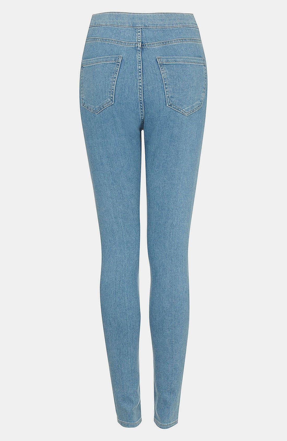 Alternate Image 2  - Topshop Moto 'Joni' High Waist Skinny Jeans (Mid Stone) (Short)