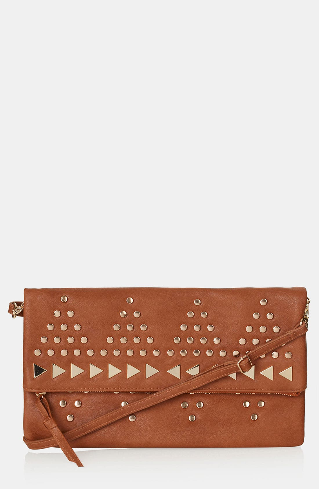 Alternate Image 1 Selected - Topshop Studded Crossbody Clutch