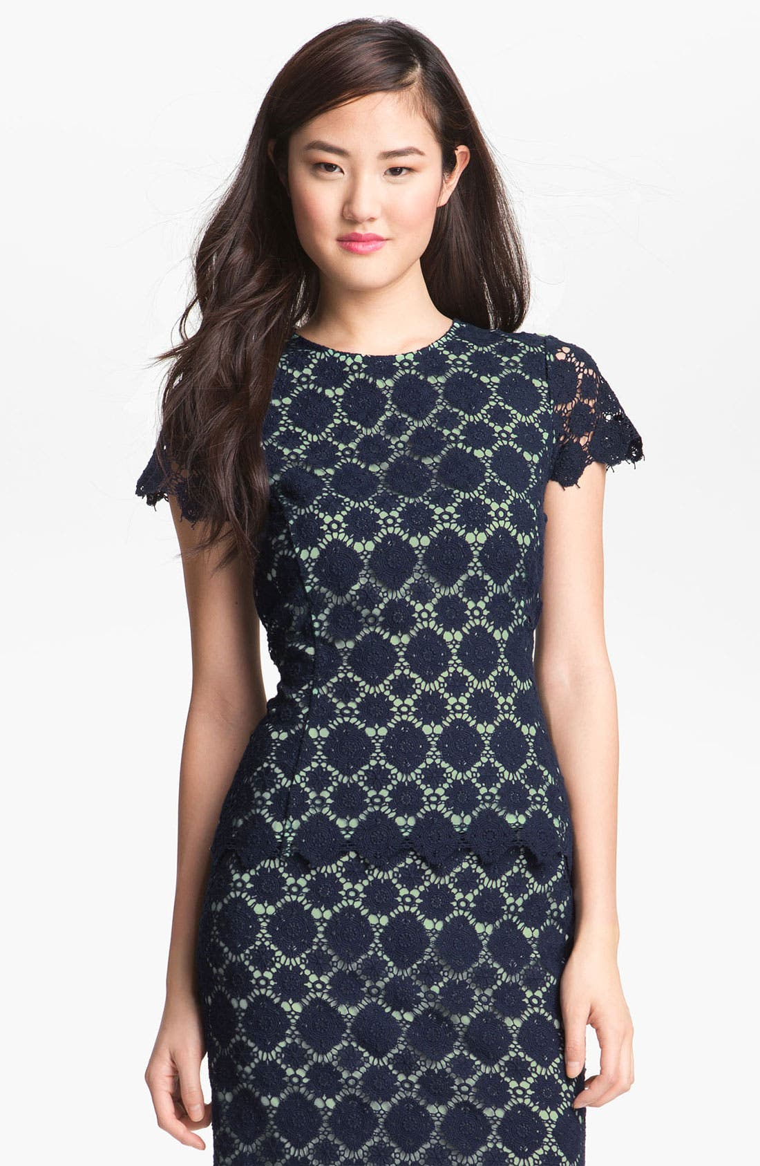 Alternate Image 1 Selected - Vince Camuto Crochet Lace Top