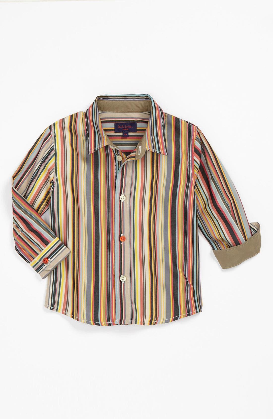 Alternate Image 1 Selected - Paul Smith Junior Stripe Dress Shirt (Baby)