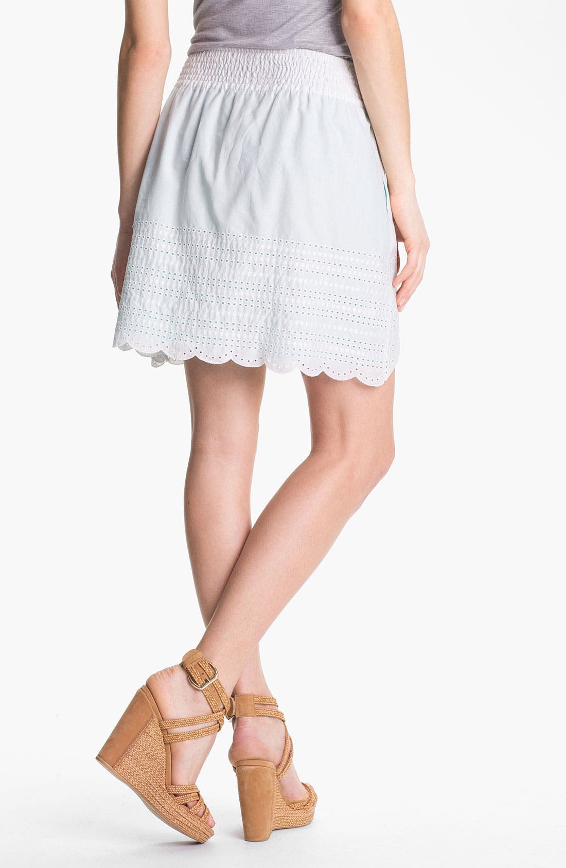 Alternate Image 2  - Caslon Eyelet Cotton Skirt