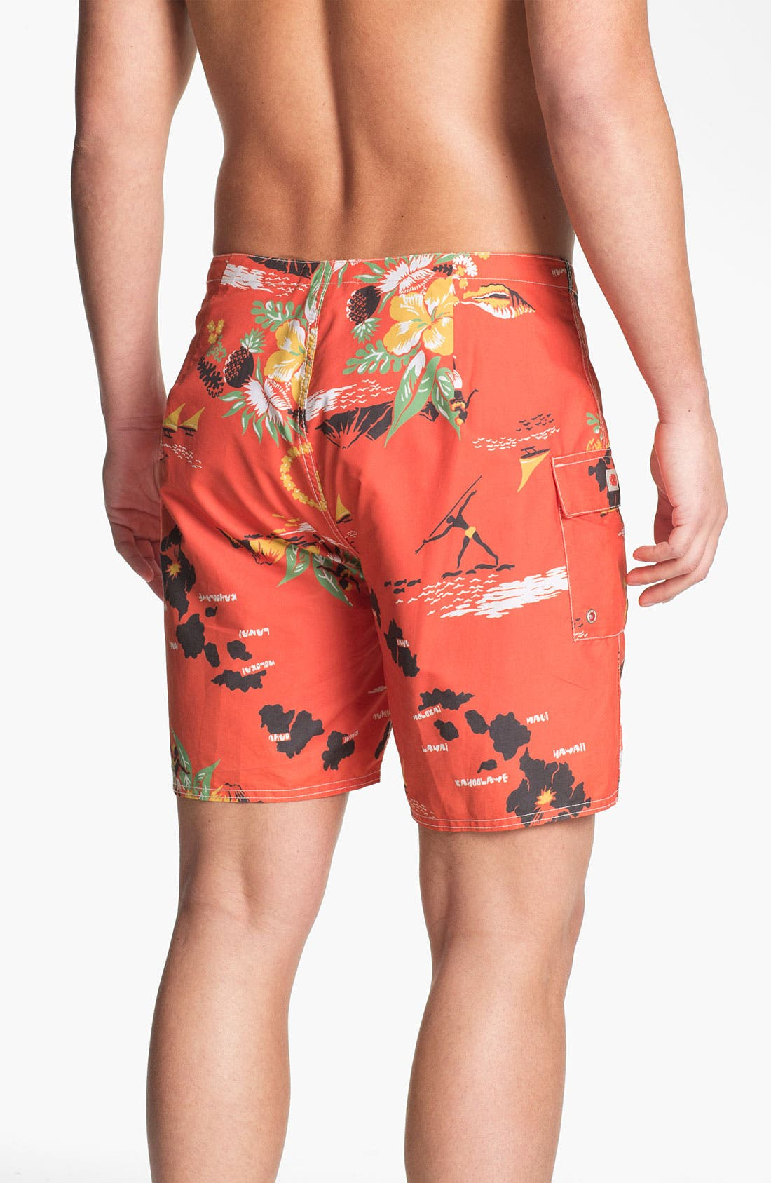 Alternate Image 2  - Toes on the Nose 'Mahalo' Board Shorts