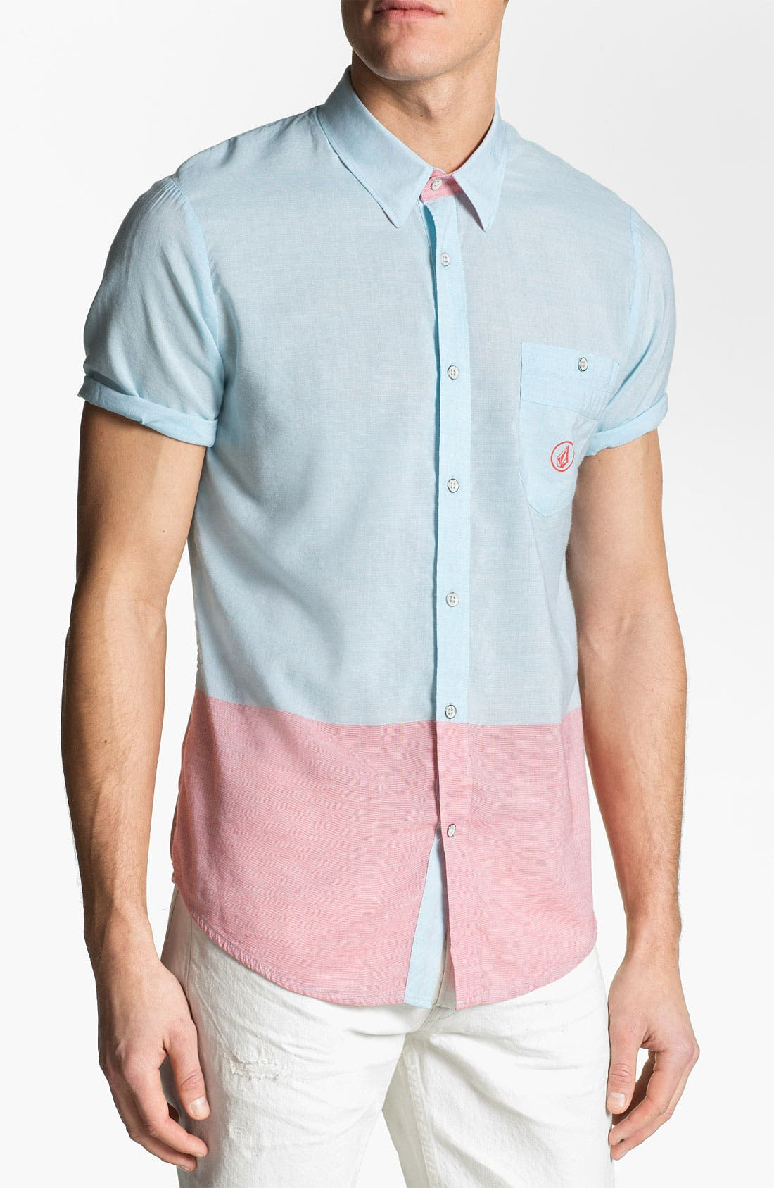 Alternate Image 1 Selected - Volcom 'Bank Lock' Short Sleeve Woven Shirt