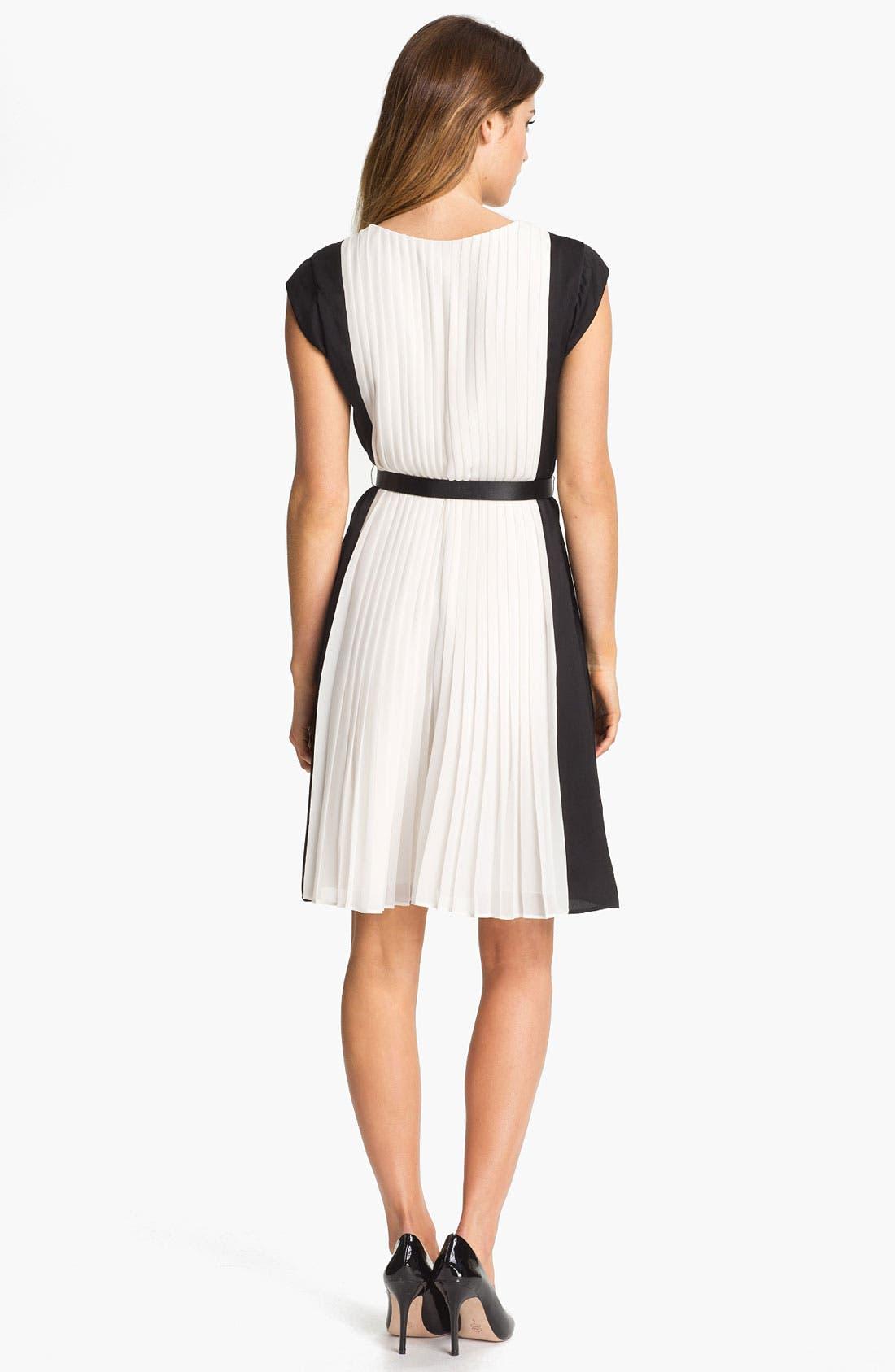 Alternate Image 2  - DKNYC Pleated Colorblock Dress