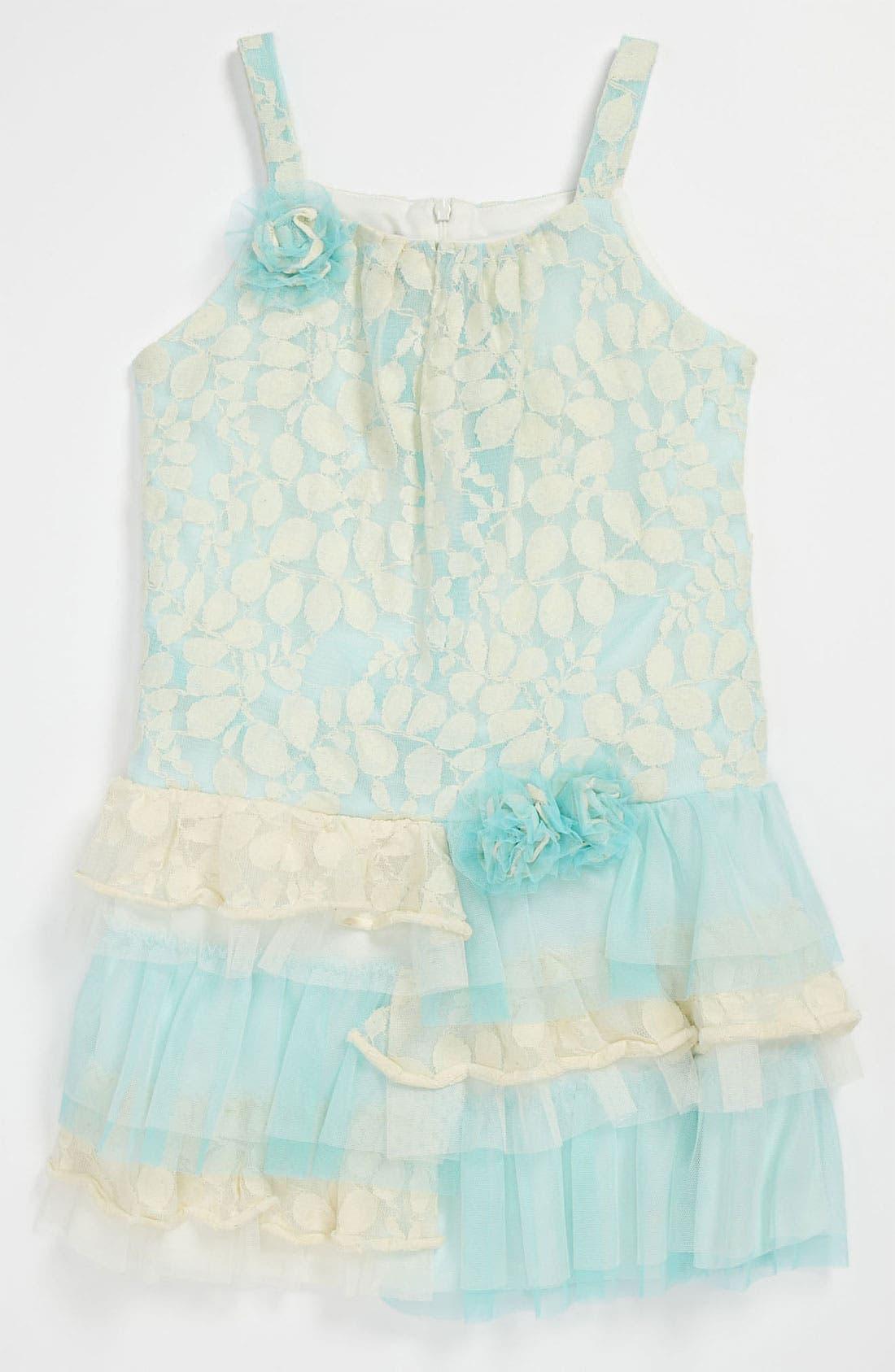 Alternate Image 1 Selected - Isobella & Chloe Lace Dress (Little Girls & Big Girls)