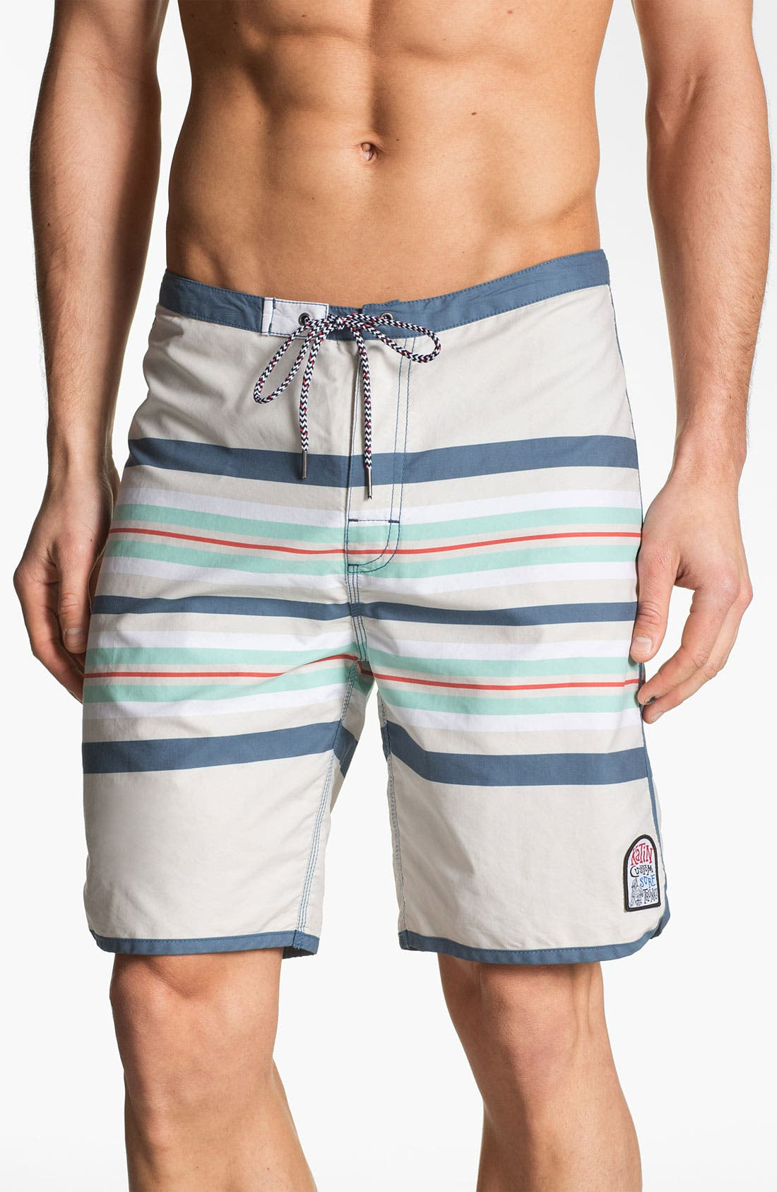 Main Image - Katin 'South Pacific' Stripe Print Board Shorts