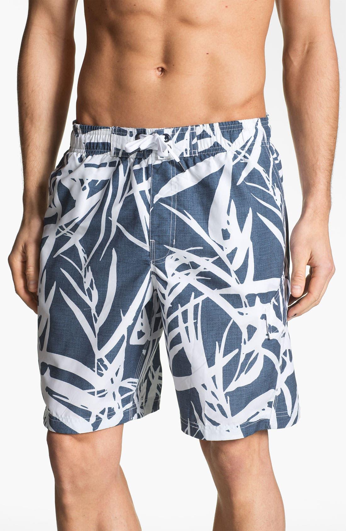 Main Image - Speedo® Palm Print Swim Shorts