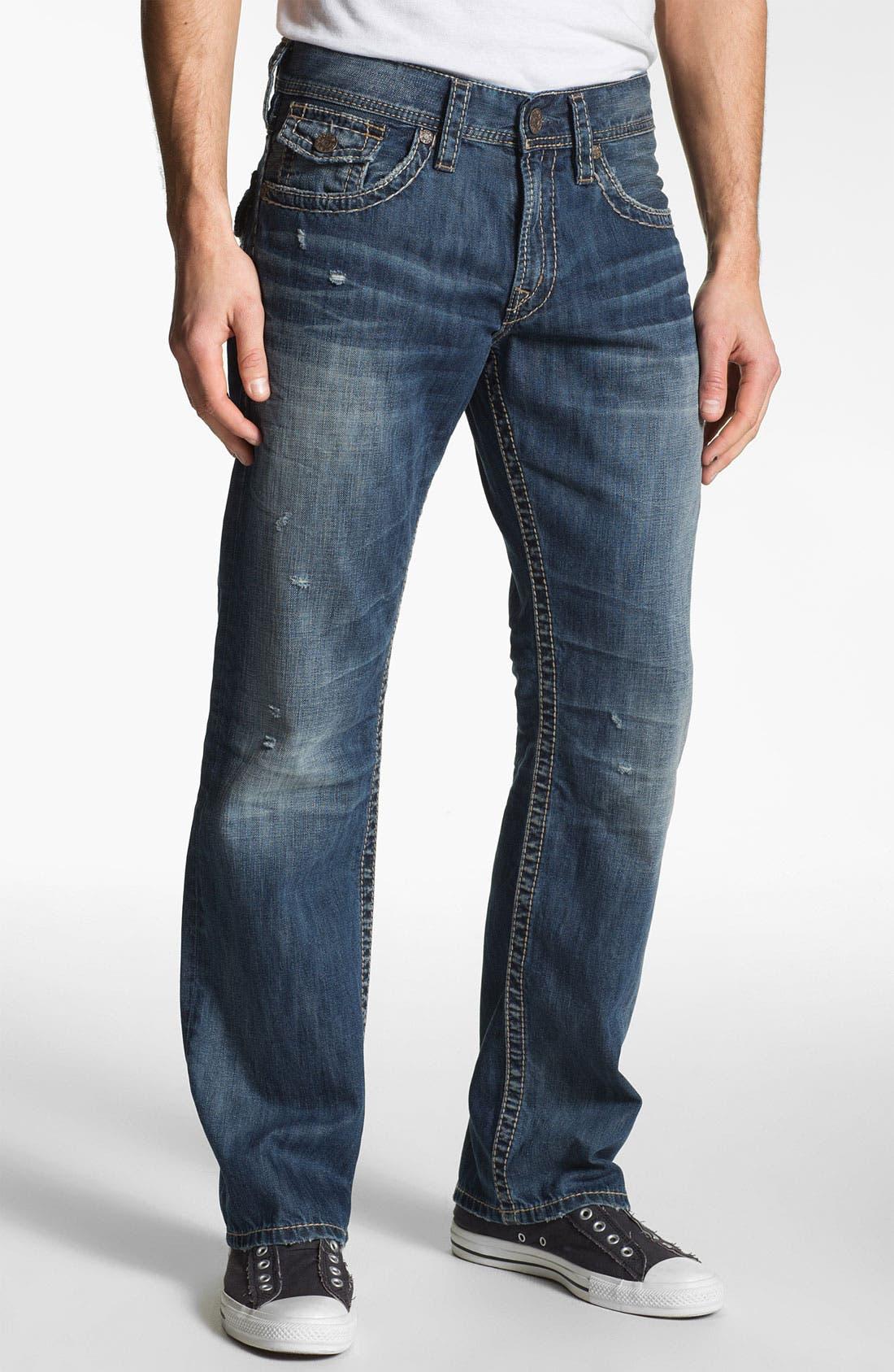 Alternate Image 2  - Silver Jeans Co. 'Zac' Straight Leg Jeans (Indigo)