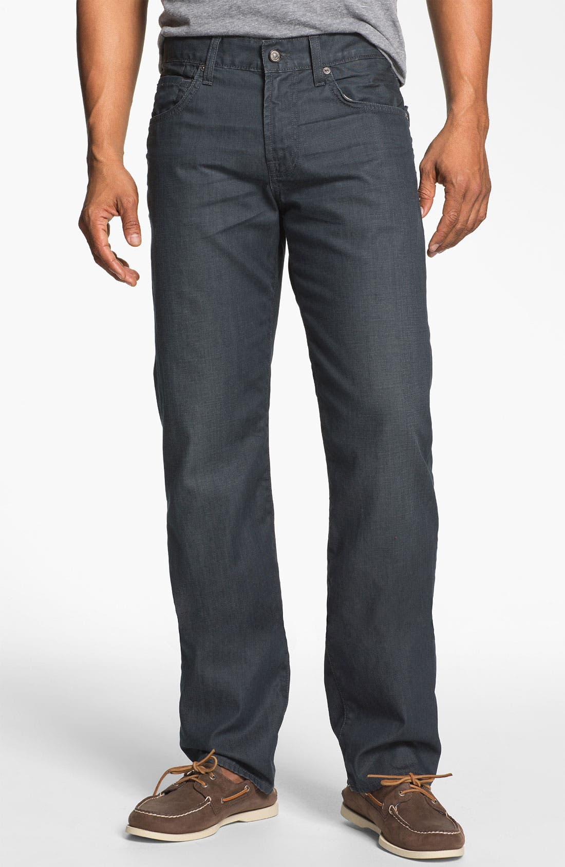 Alternate Image 2  - 7 For All Mankind® 'Slimmy' Slim Fit Jeans (Cool Grey)