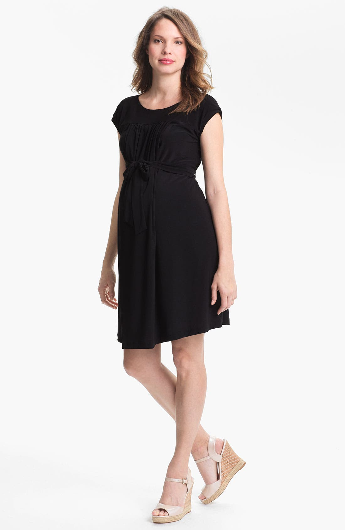 Main Image - Japanese Weekend Polka Dot Maternity Dress