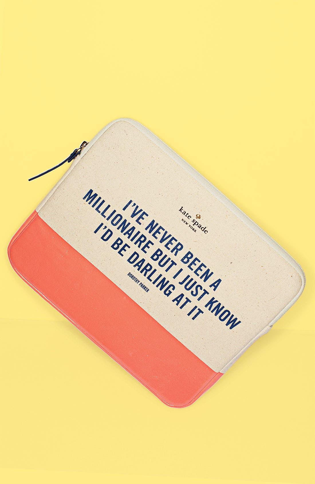 Alternate Image 3  - kate spade new york 'millionaire quote' iPad sleeve