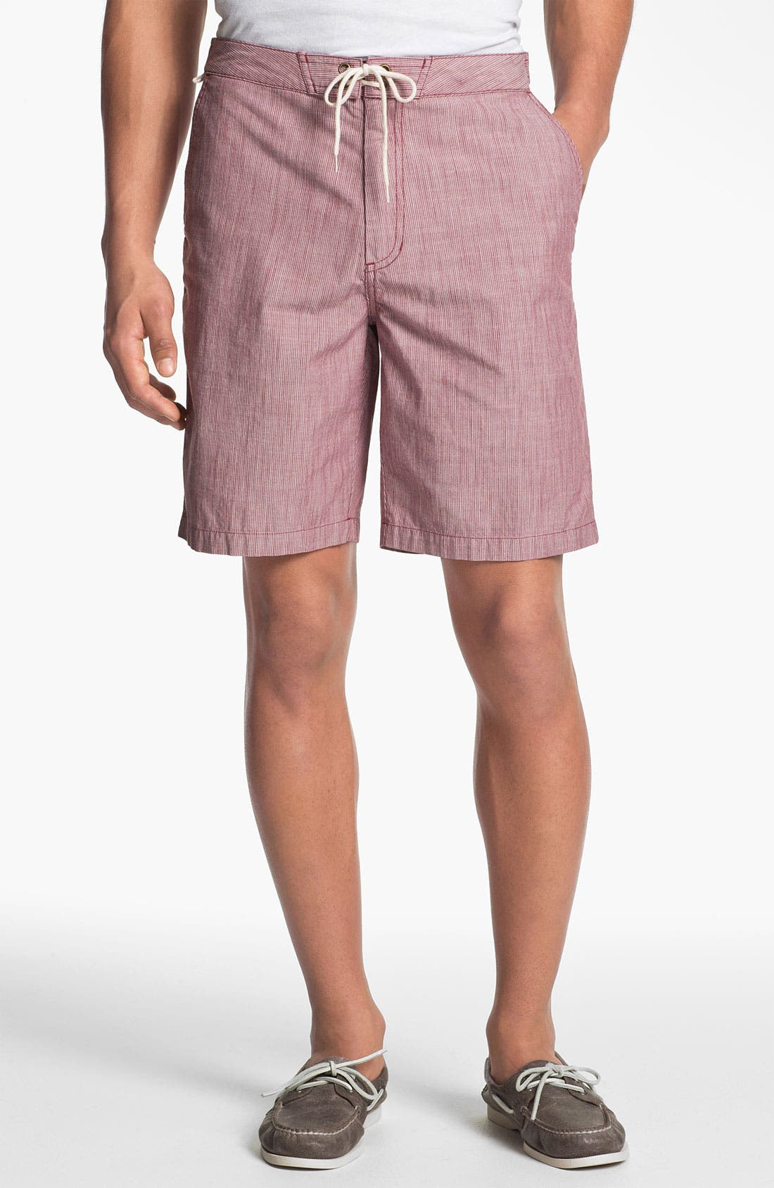 Alternate Image 1 Selected - Jack O'Neill Flat Front Chambray Shorts