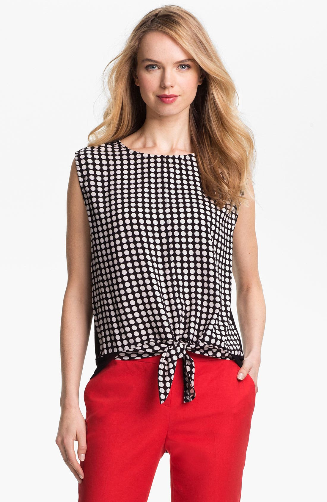 Alternate Image 1 Selected - Vince Camuto Tie Waist Blouse